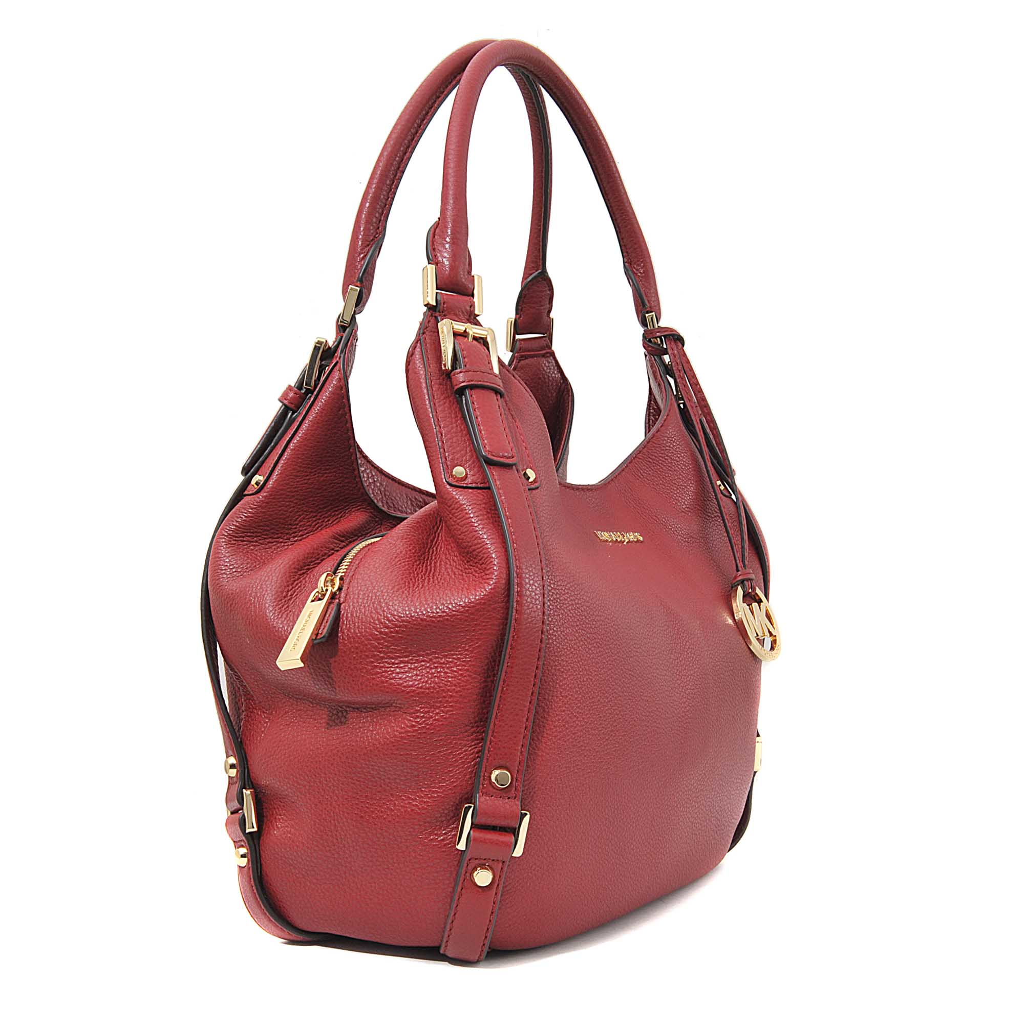 4a10e541d0a317 MICHAEL Michael Kors Bedford Large Shoulder Tote in Red - Lyst