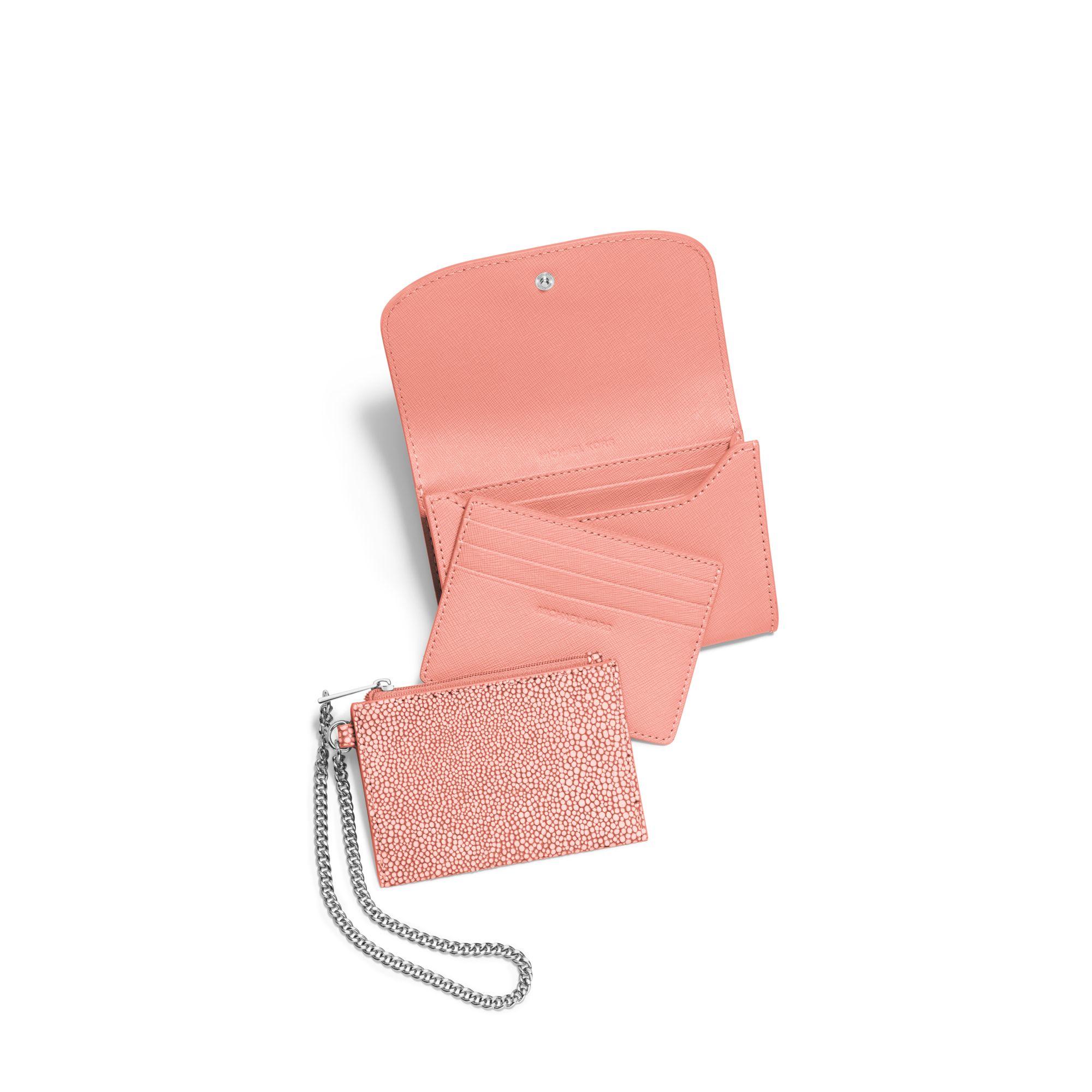 6530d1fc430e Lyst - Michael Kors Juliana Medium 3-in-1 Saffiano Leather Wallet in ...