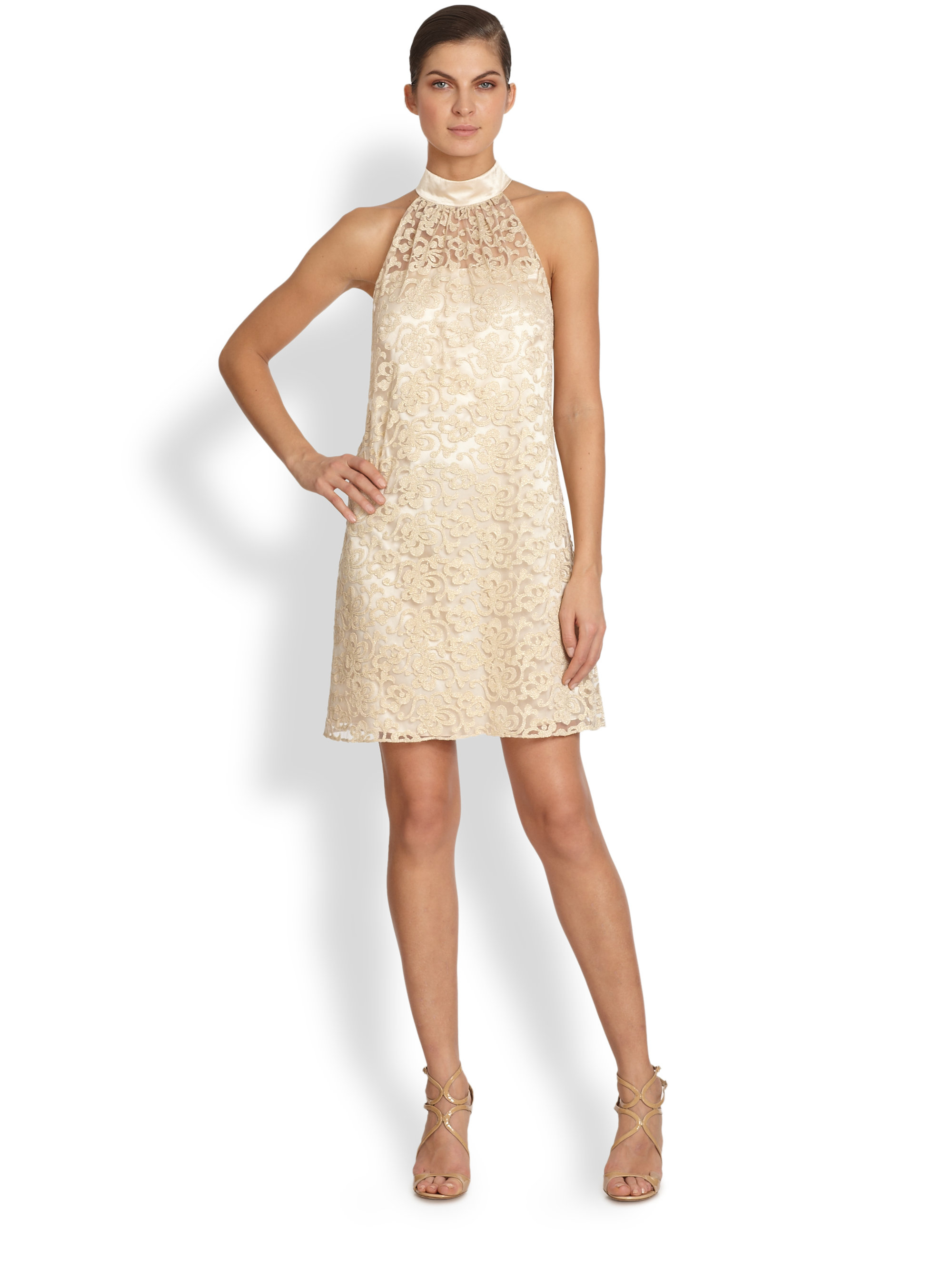Laundry by shelli segal lace linen dress