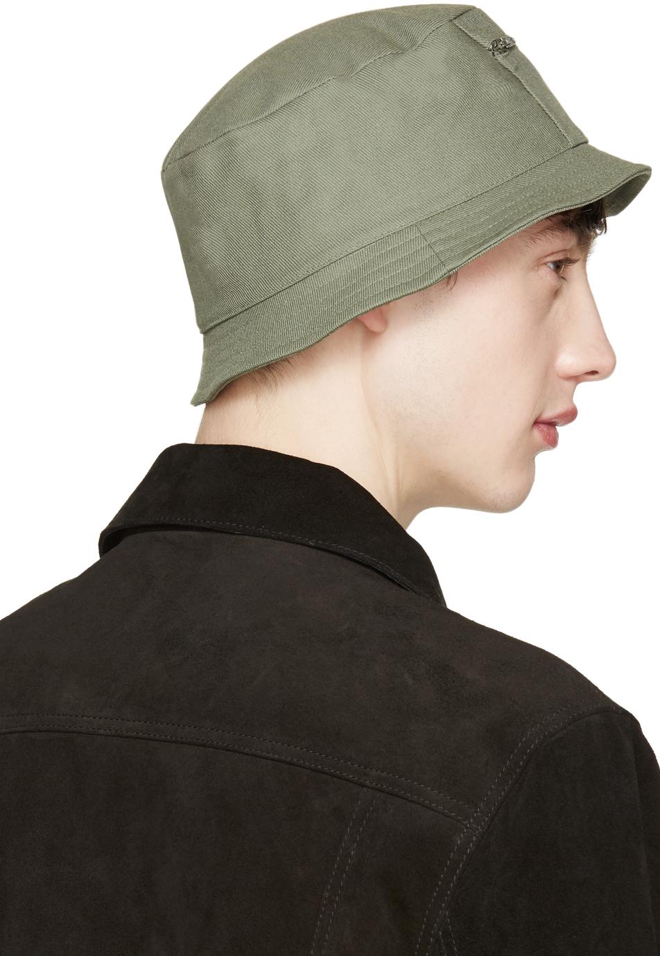 Maison Kitsuné Khaki Canvas Bucket Hat in Natural for Men - Lyst 4fca68a97fc