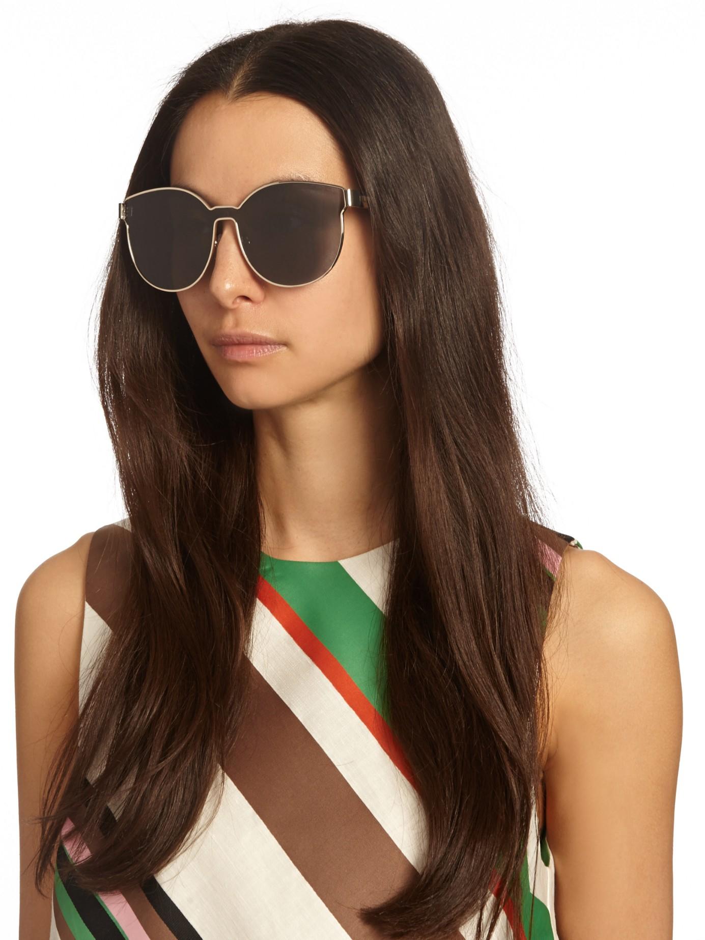 6351079429f3 Lyst - Karen Walker Star Sailor Sunglasses in Brown