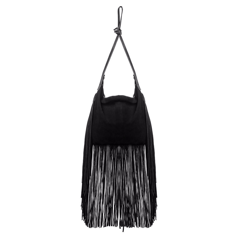 This black fringe crossbody purse is perfect to match most of your outfit both your jeans and your dresses. The long handle strap can be removed so you can use this beautiful fringed bag as .
