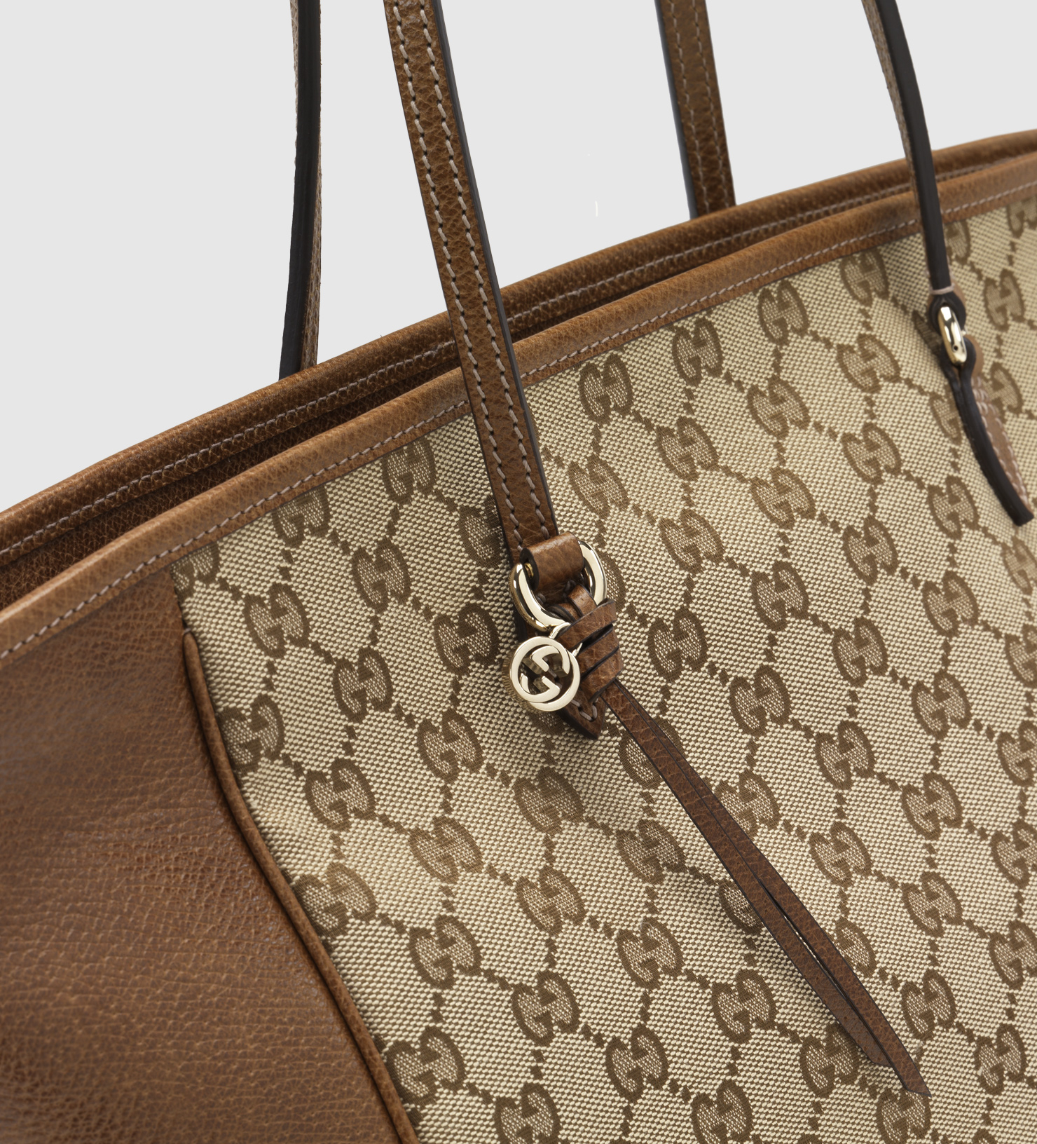 5a344c40dc0 Lyst - Gucci Bree Original Gg Canvas Tote in Brown