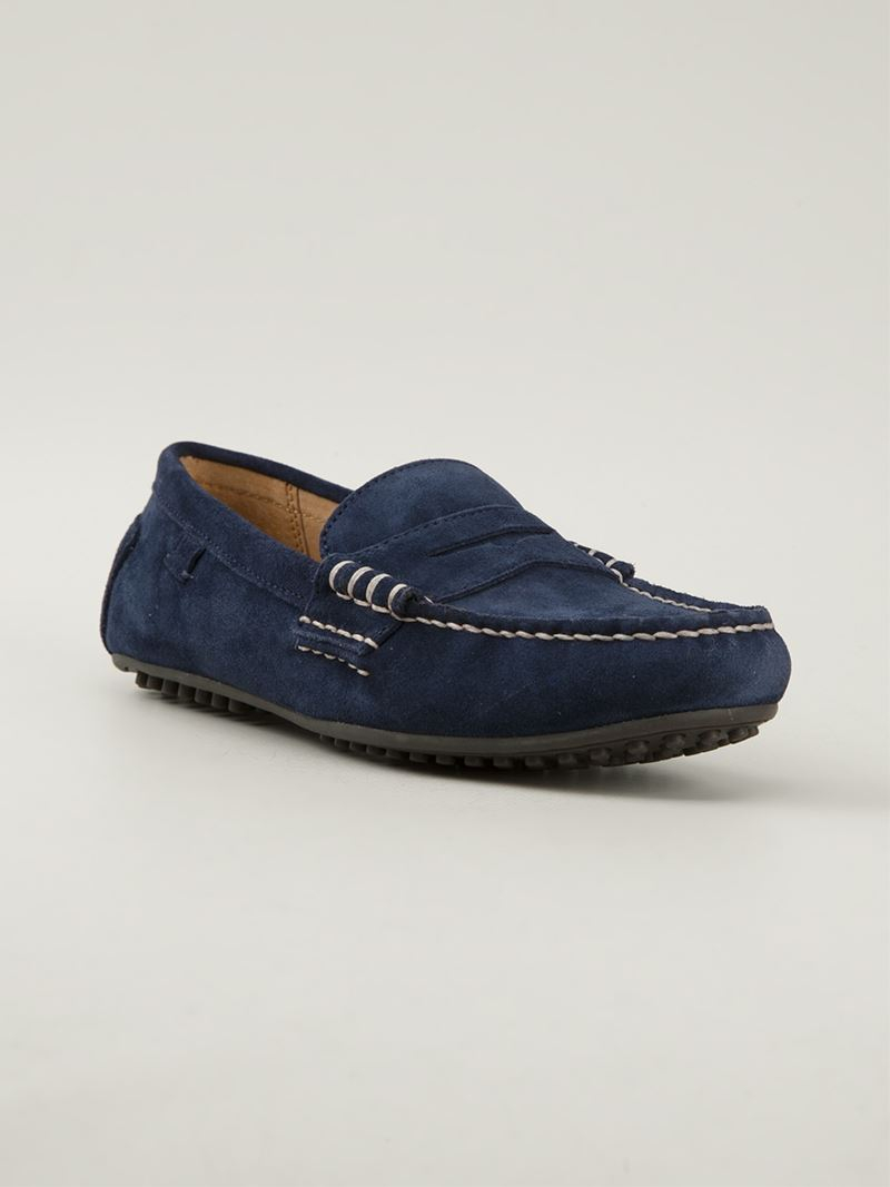 63114847c05 Lyst - Polo Ralph Lauren  Wes  Penny Loafer in Blue for Men
