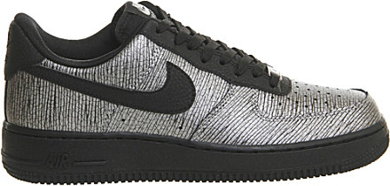 buy popular 57b96 b8e52 Nike Air Force 1 '07 Nyc Leather And Textile Trainers in Metallic - Lyst