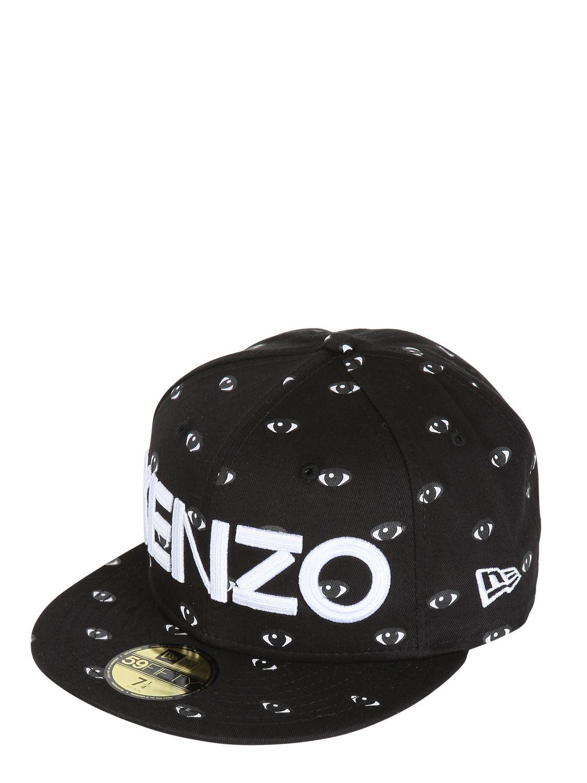 4d79882d KENZO Eye Printed Baseball Hat in Black for Men - Lyst