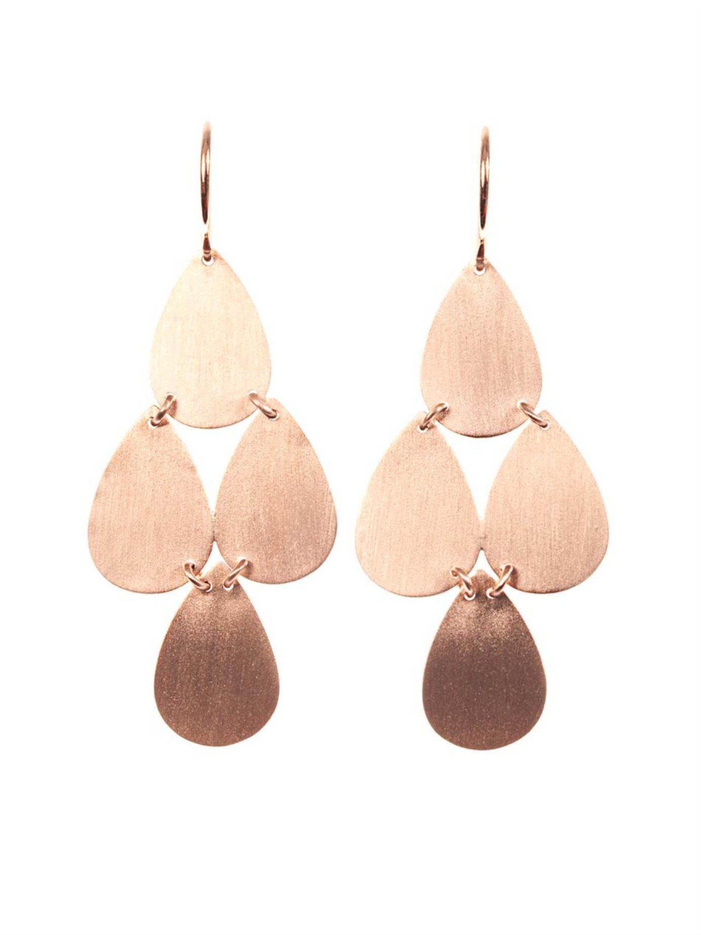 Lyst Irene neuwirth Rose Gold Chandelier Earrings in Pink