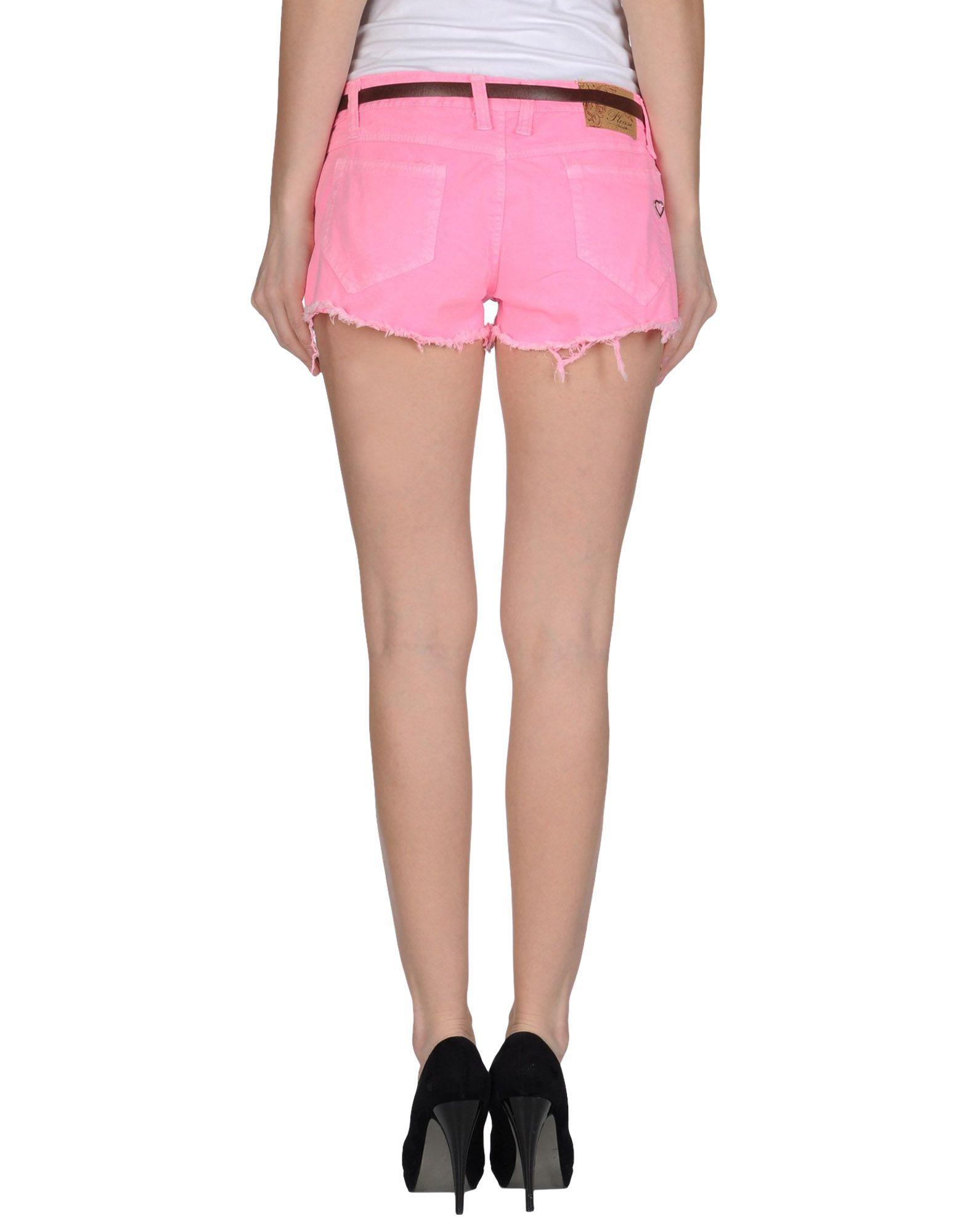 Please Denim Shorts in Purple | Lyst