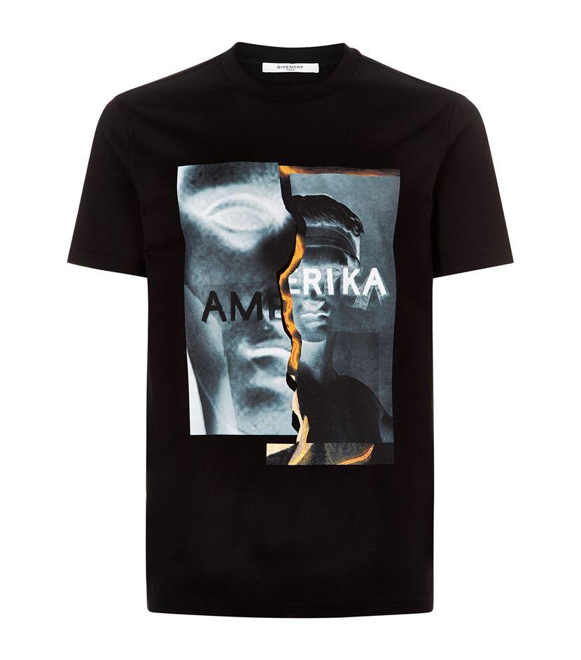 Givenchy Spliced print T-shirt K3zLUj1Gq1