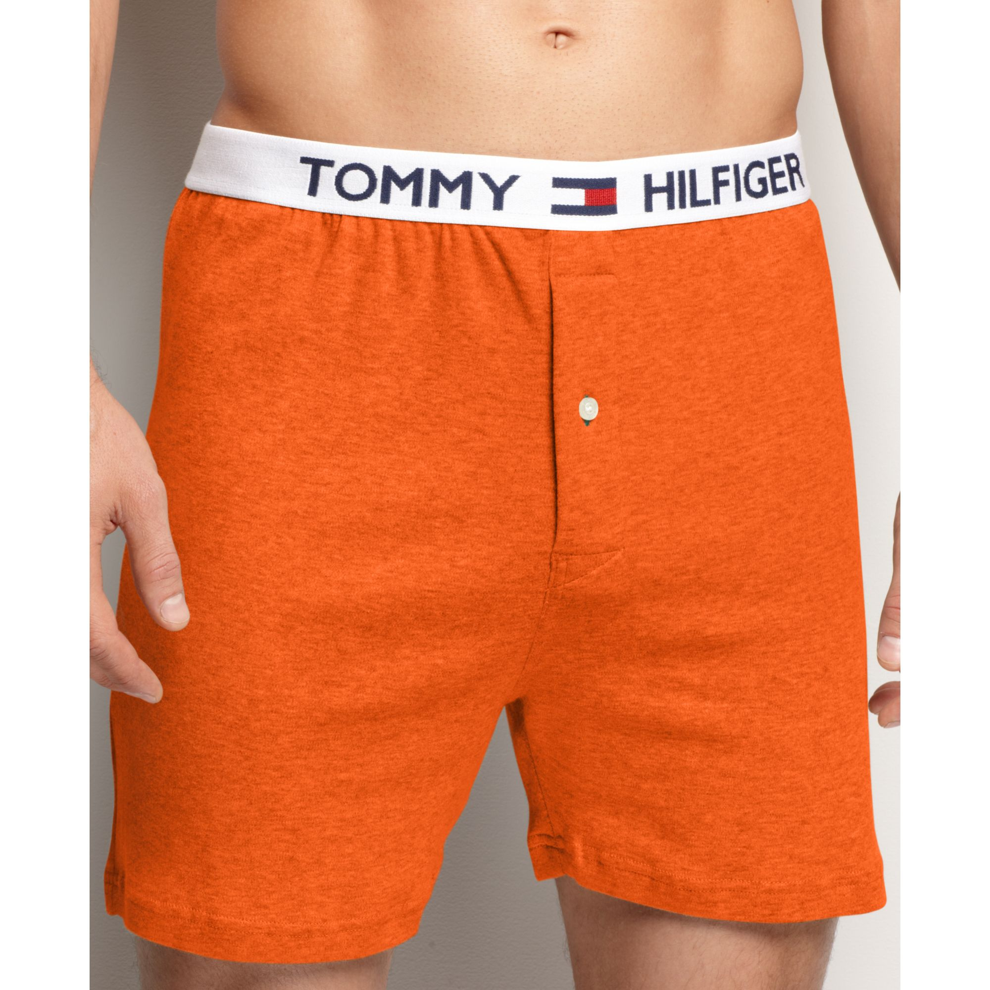4f51a1c62e17 Tommy Hilfiger Athletic Knit Boxer in Orange for Men - Lyst