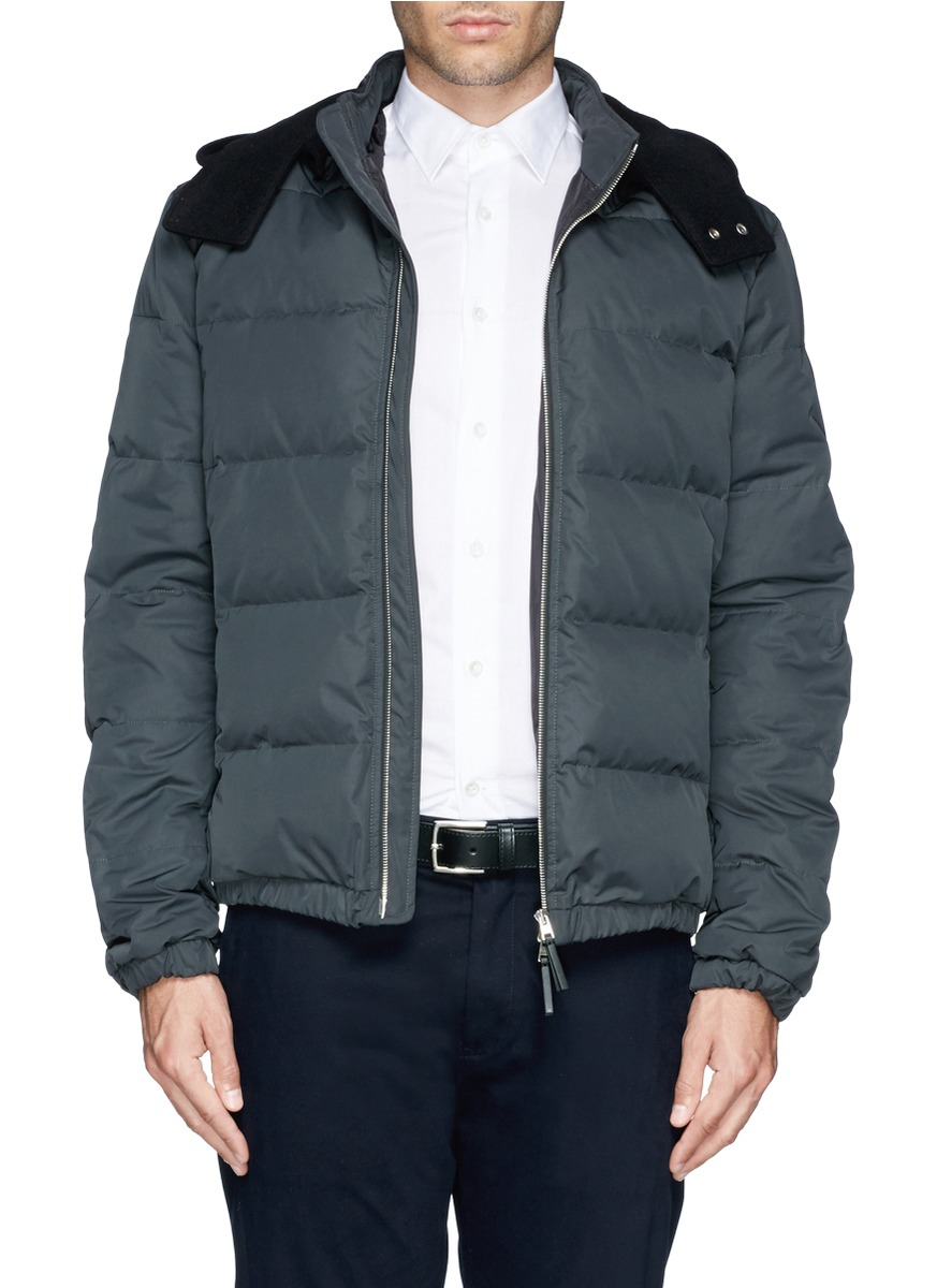 Marni Quilted Down Jacket in Blue for Men