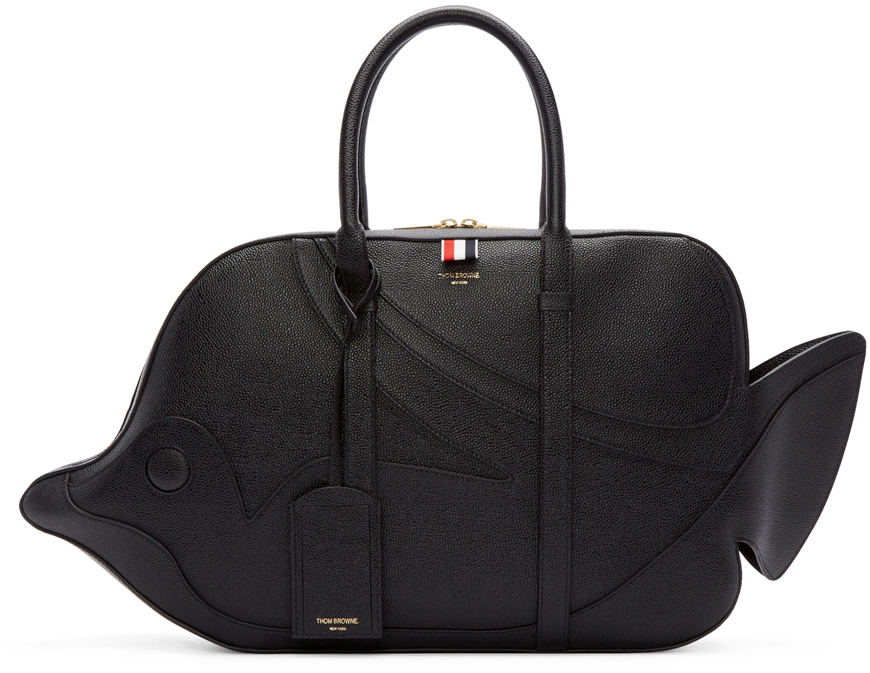 da1404674b6 Thom Browne Black Trigger Reef Fish Duffle Bag in Black - Lyst