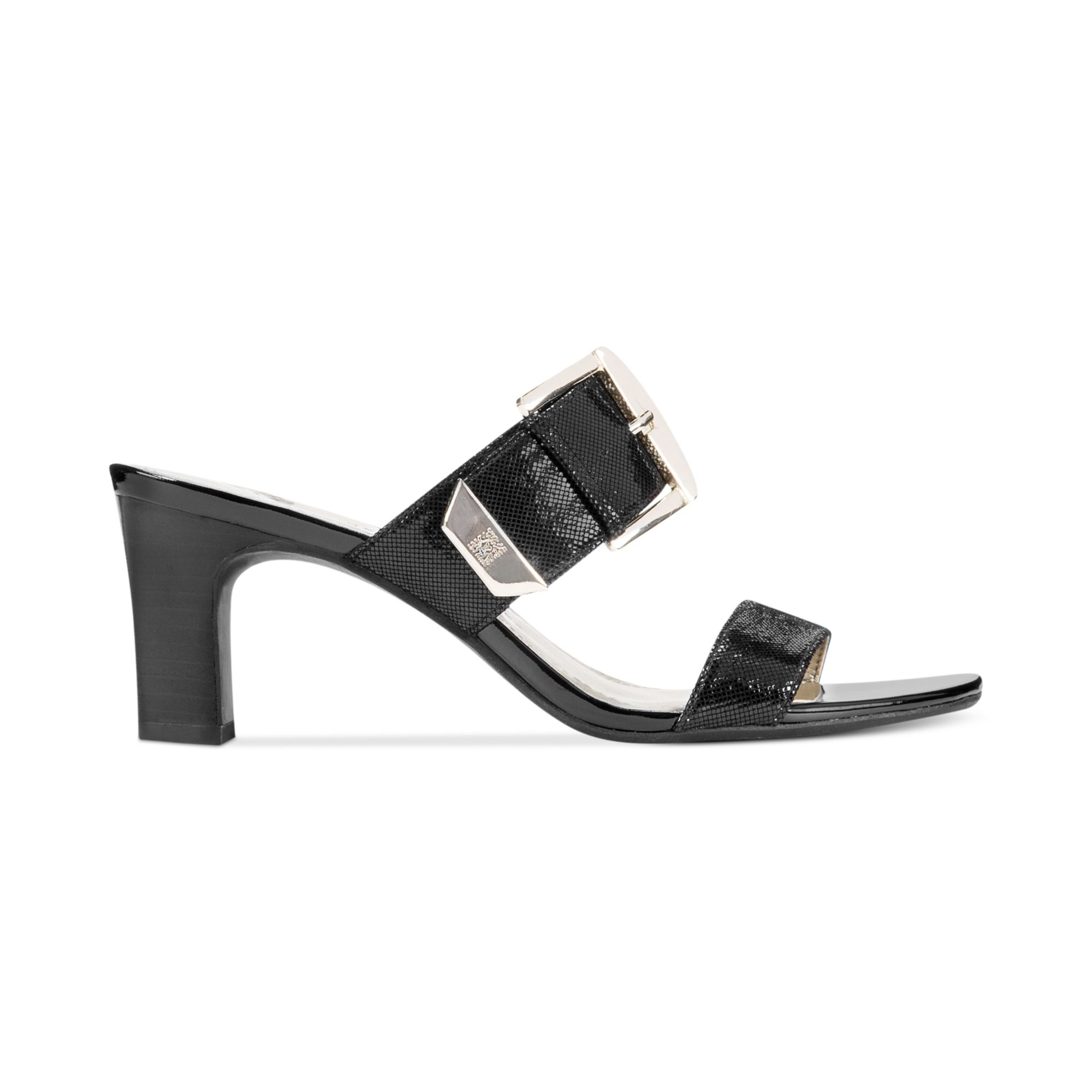 Anne klein Natascha Dress Sandals in Black | Lyst