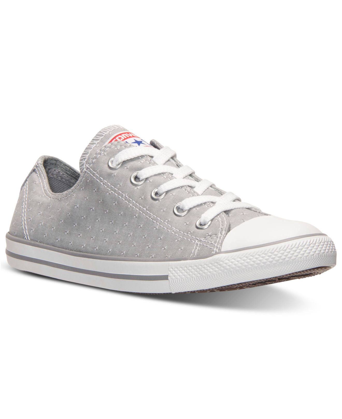 2668219fe10516 Lyst - Converse Women s Chuck Taylor Dainty Perfed Casual Sneakers ...