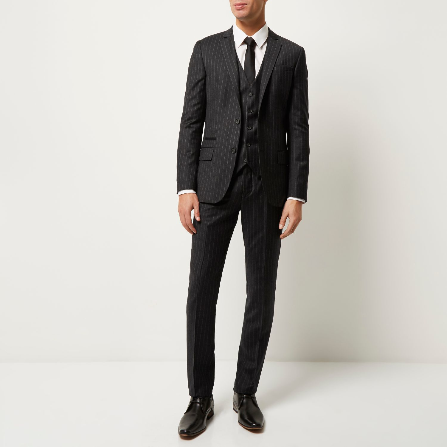 River Island Grey Suit Trousers
