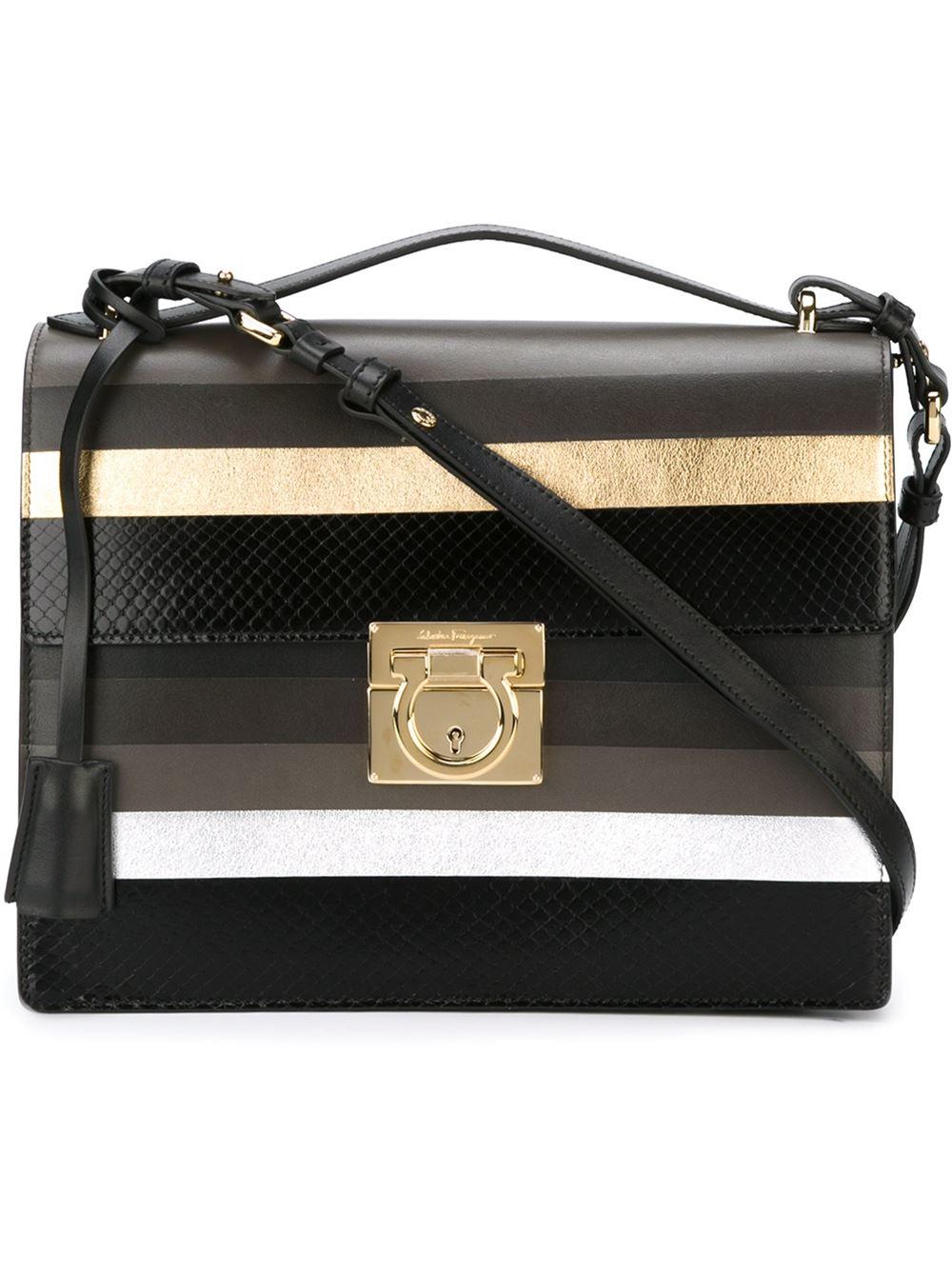 36047eb77eeb Lyst - Ferragamo Aileen Leather Shoulder Bag in Metallic