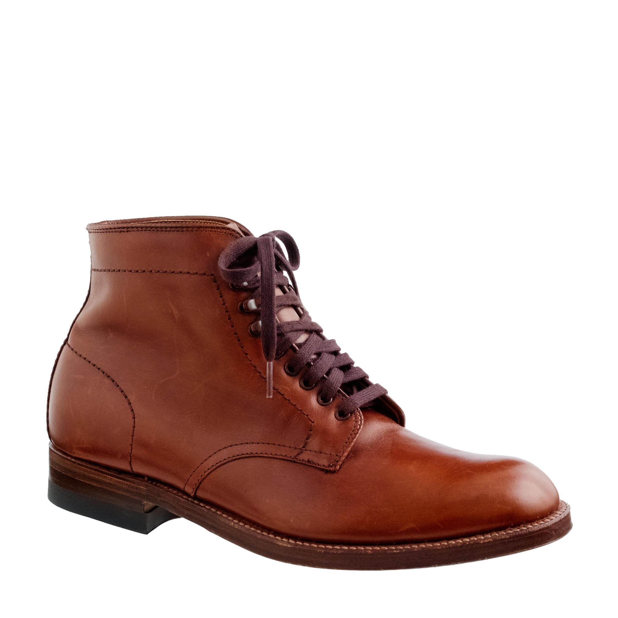 Lyst Alden Alden 174 For J Crew Plain Toe Boots In Brown