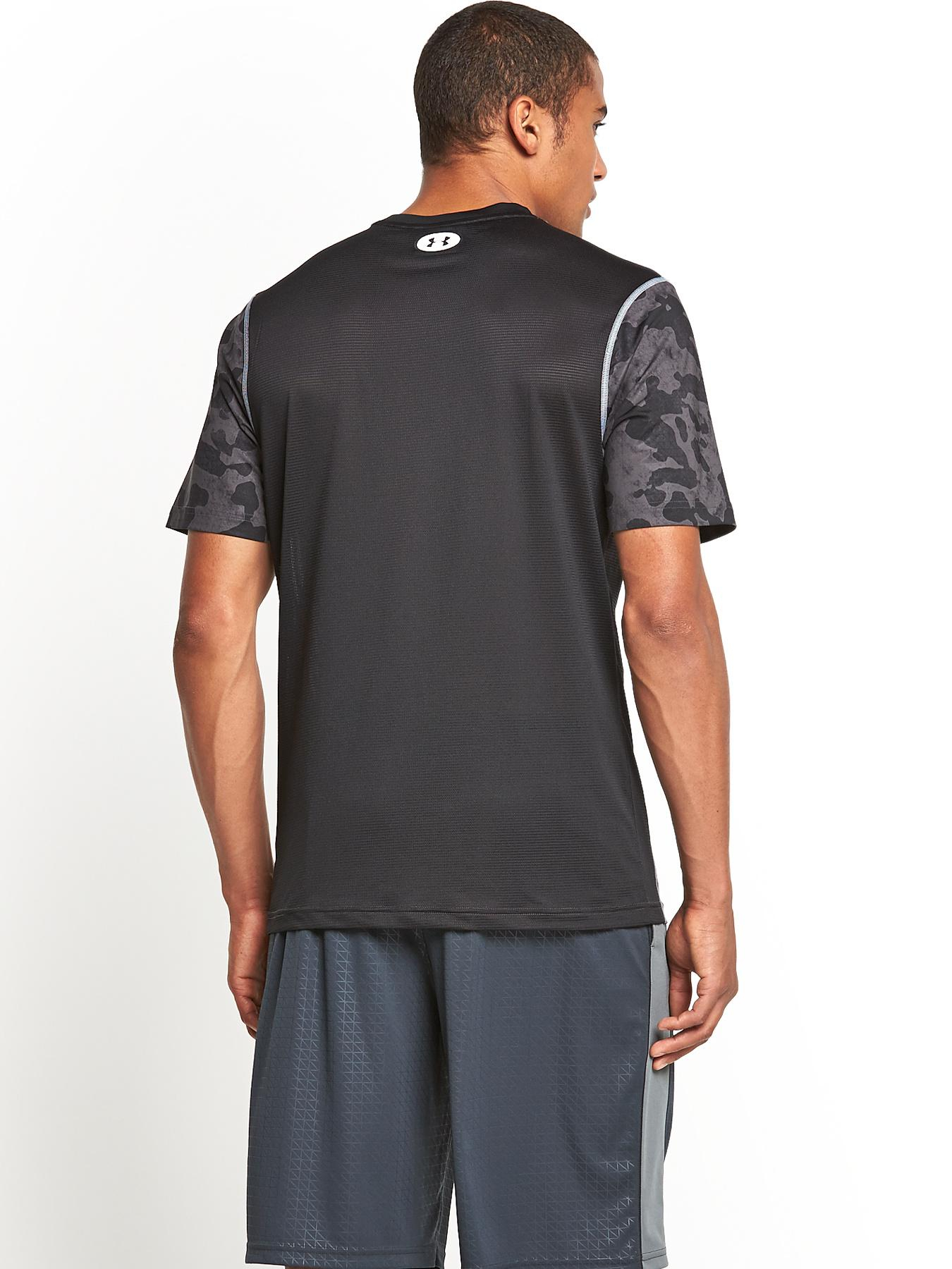 under armour mens heat gear sonic fitted printed tshirt in. Black Bedroom Furniture Sets. Home Design Ideas