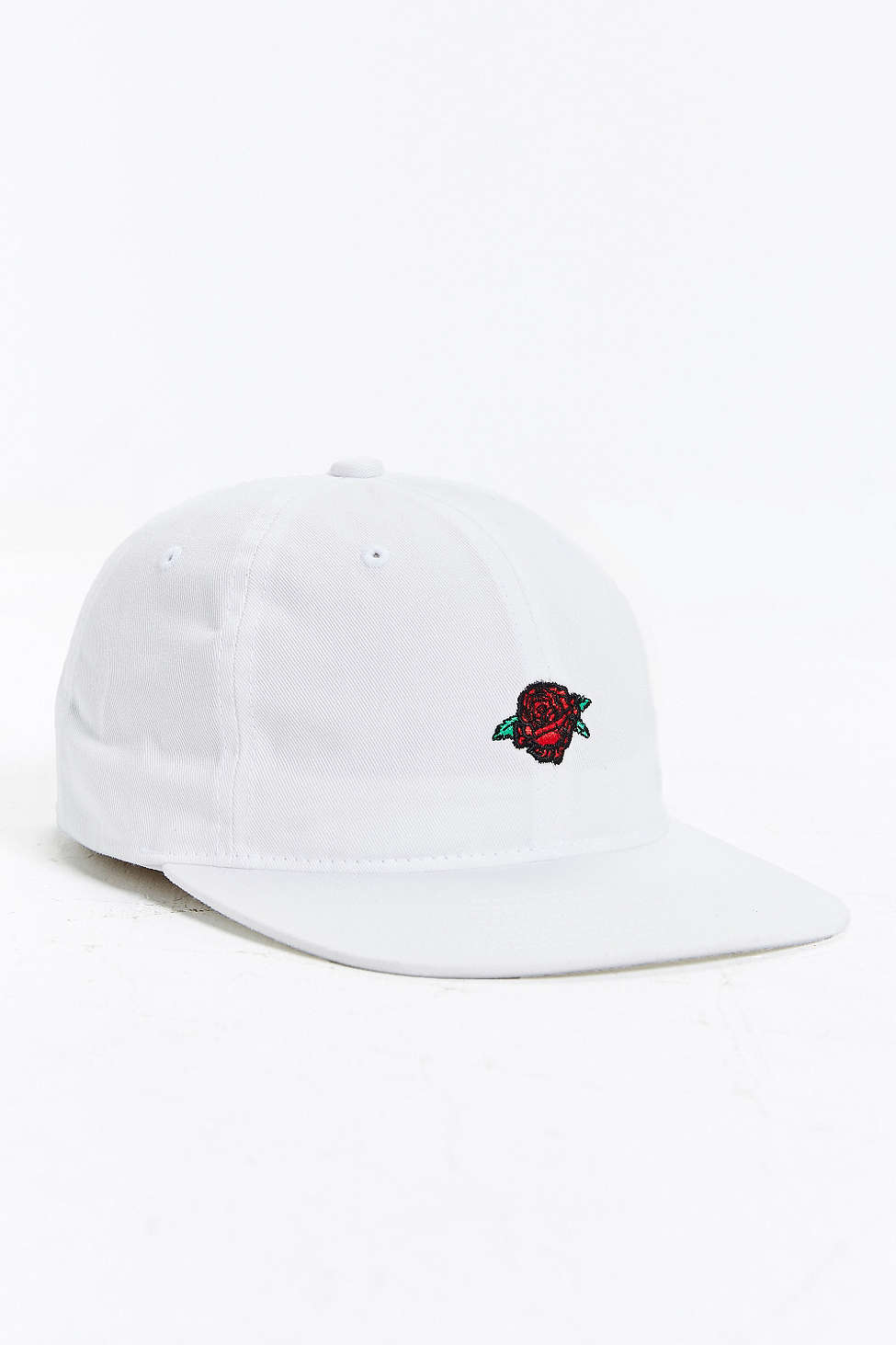 c1e101a1763 Lyst - Obey Rose Strapback Hat in White for Men