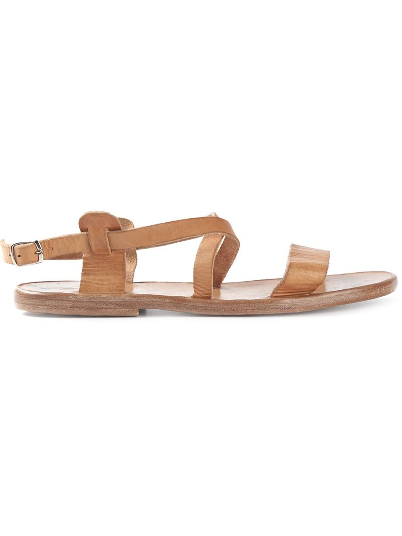 Lyst Dimissianos Miller Wooden Sole Strappy Sandals In Natural