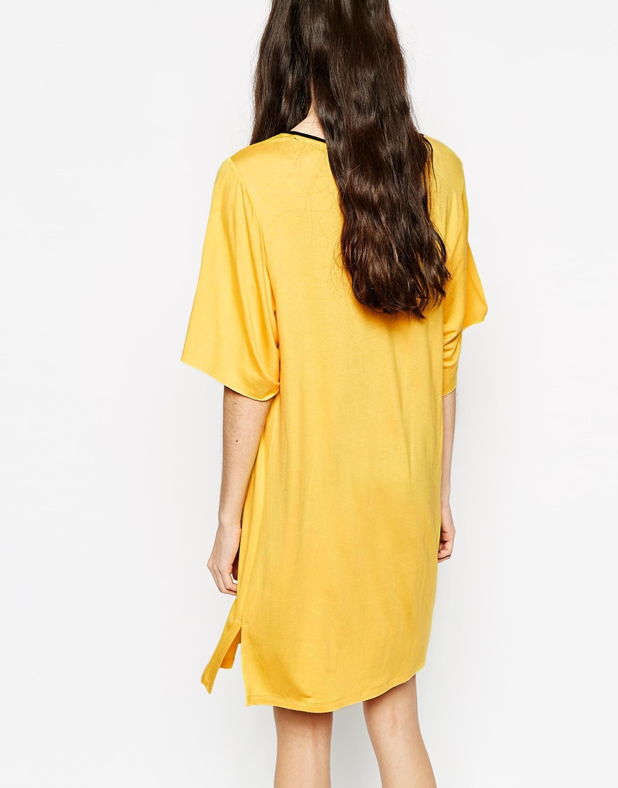 Yellow t shirt dress u2013 Dress blog Edin