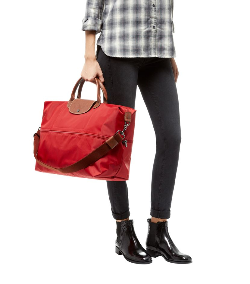 1da7514a9992 Longchamp Le Pliage Expandable Travel Bag in Red - Lyst
