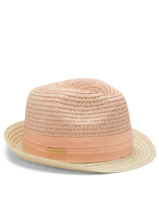 c6f7b8115 Vince Camuto Patterned Crown Straw Fedora in Natural - Lyst