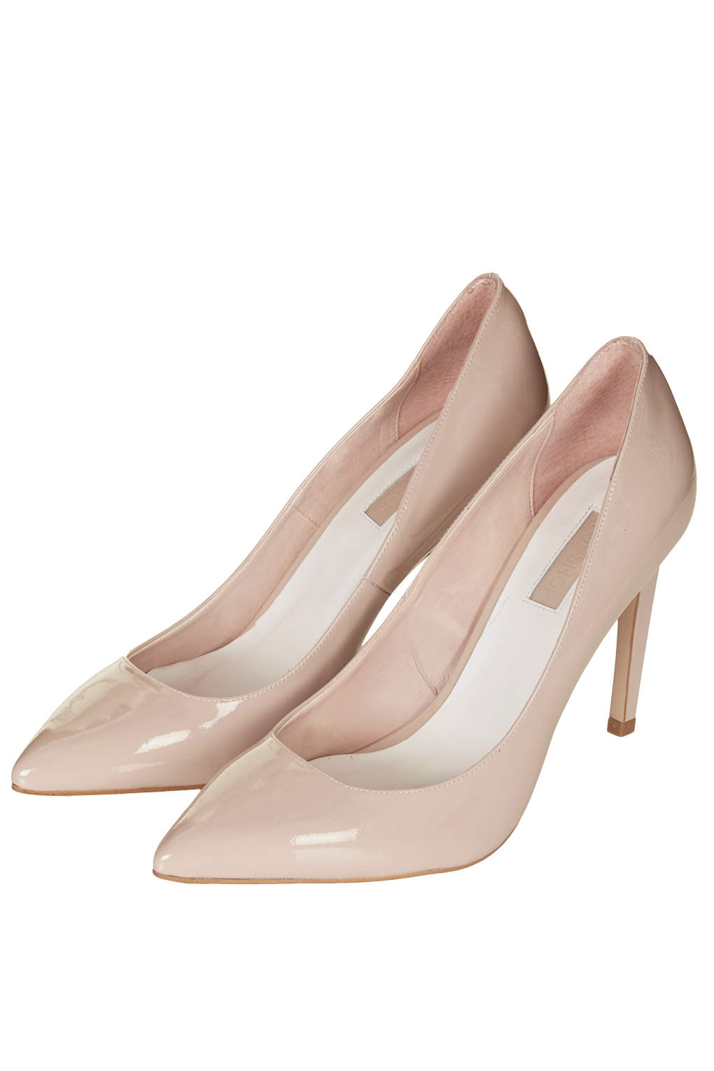 Topshop Womens Glory High Heel Shoes Nude in Natural | Lyst