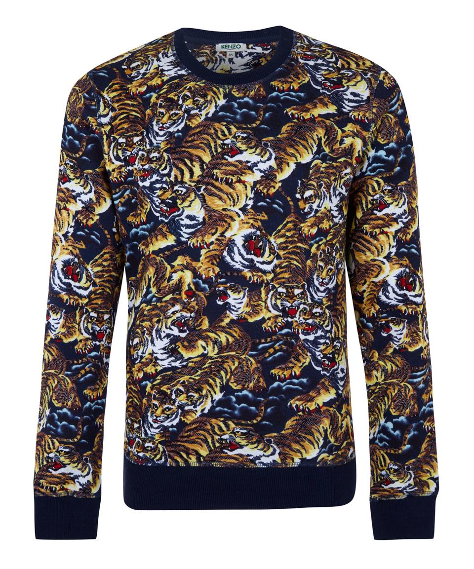 Lyst - KENZO Brown Cotton Flying Tiger Sweatshirt in Brown for Men b30fa959424