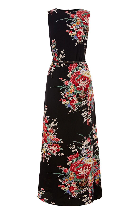 Asian print dresses