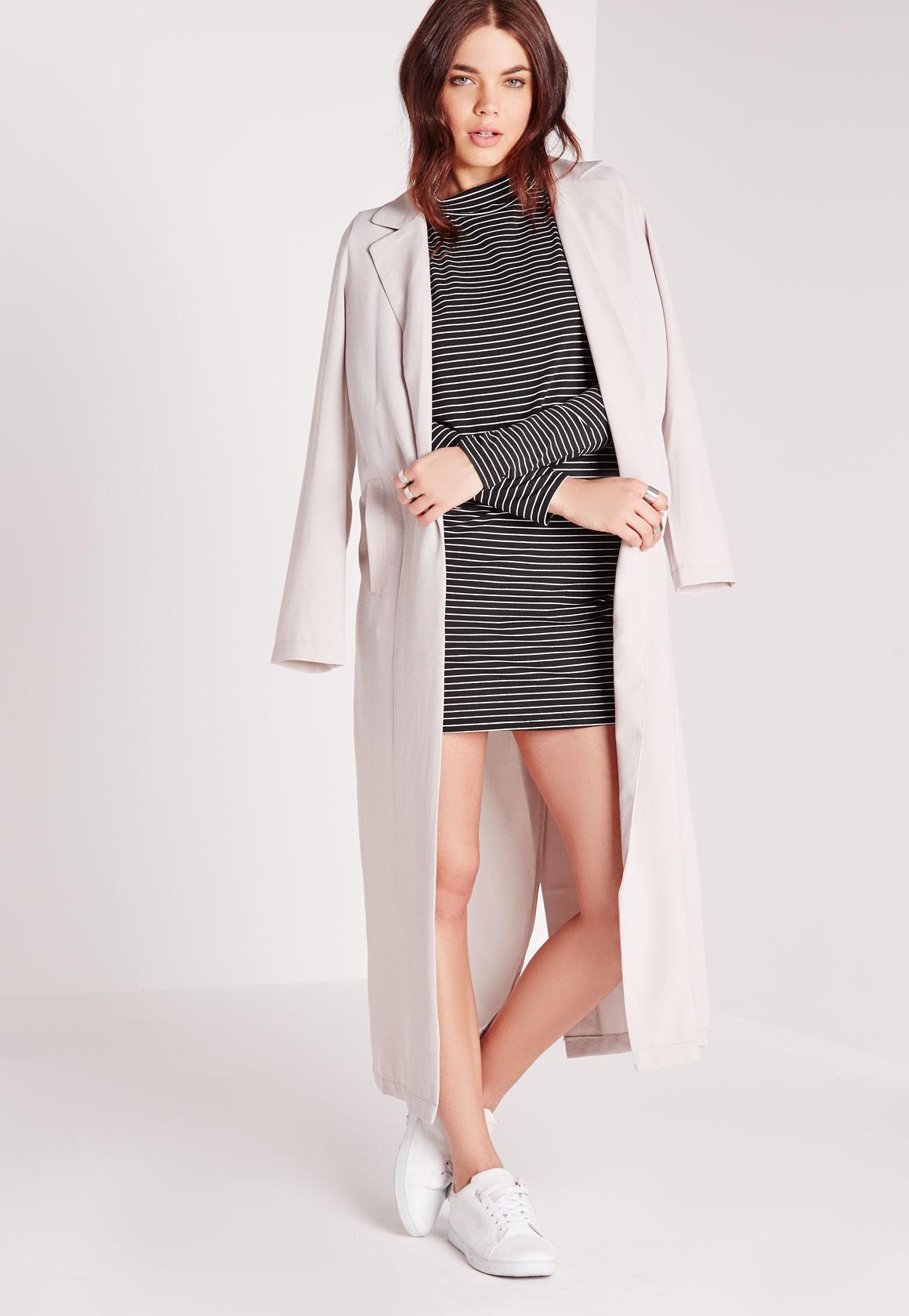 Black long sleeve polo neck dress