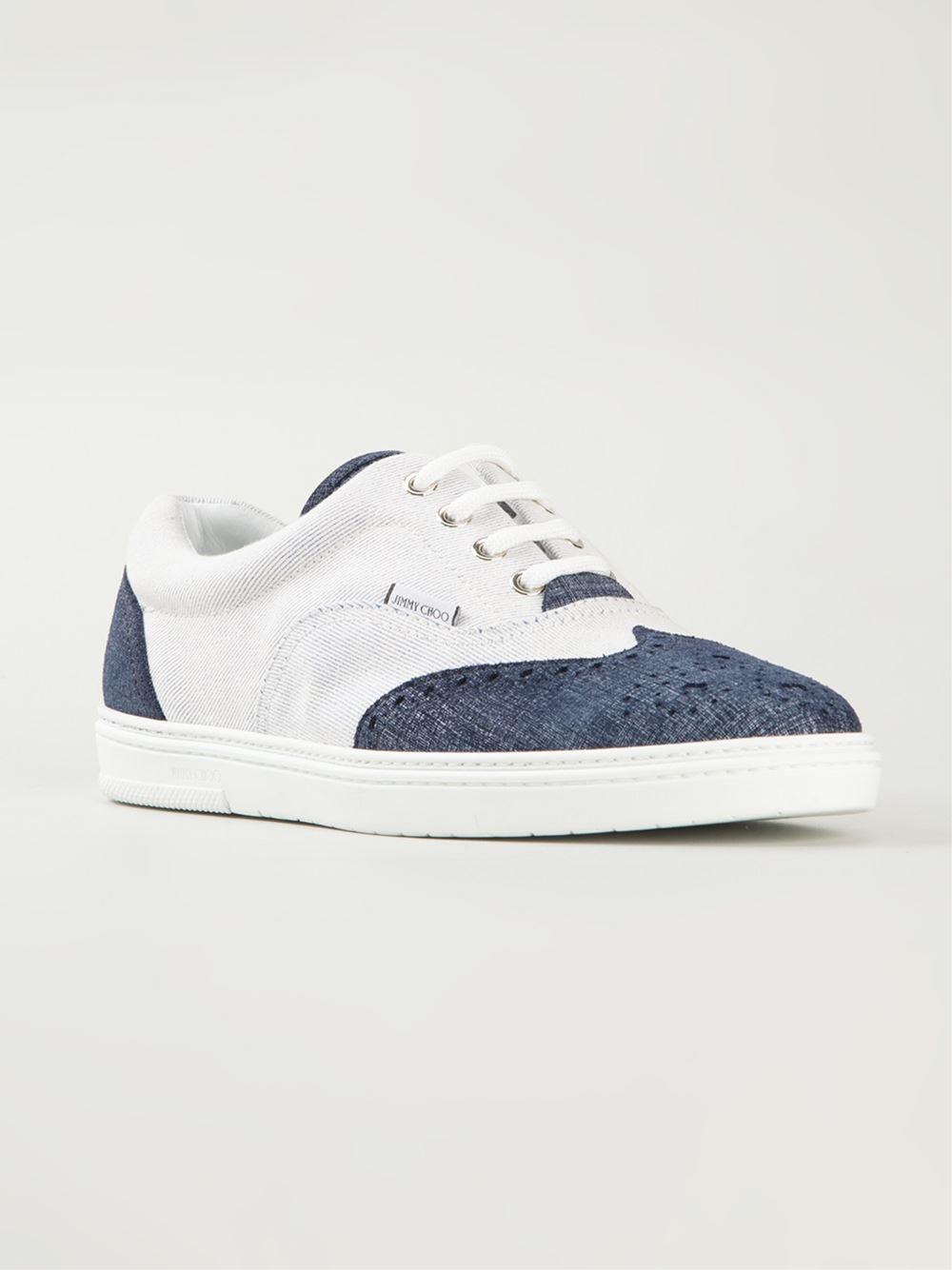Choo Chaussures De Sport Jimmy 'brian' - Blanc quAXEouy2d