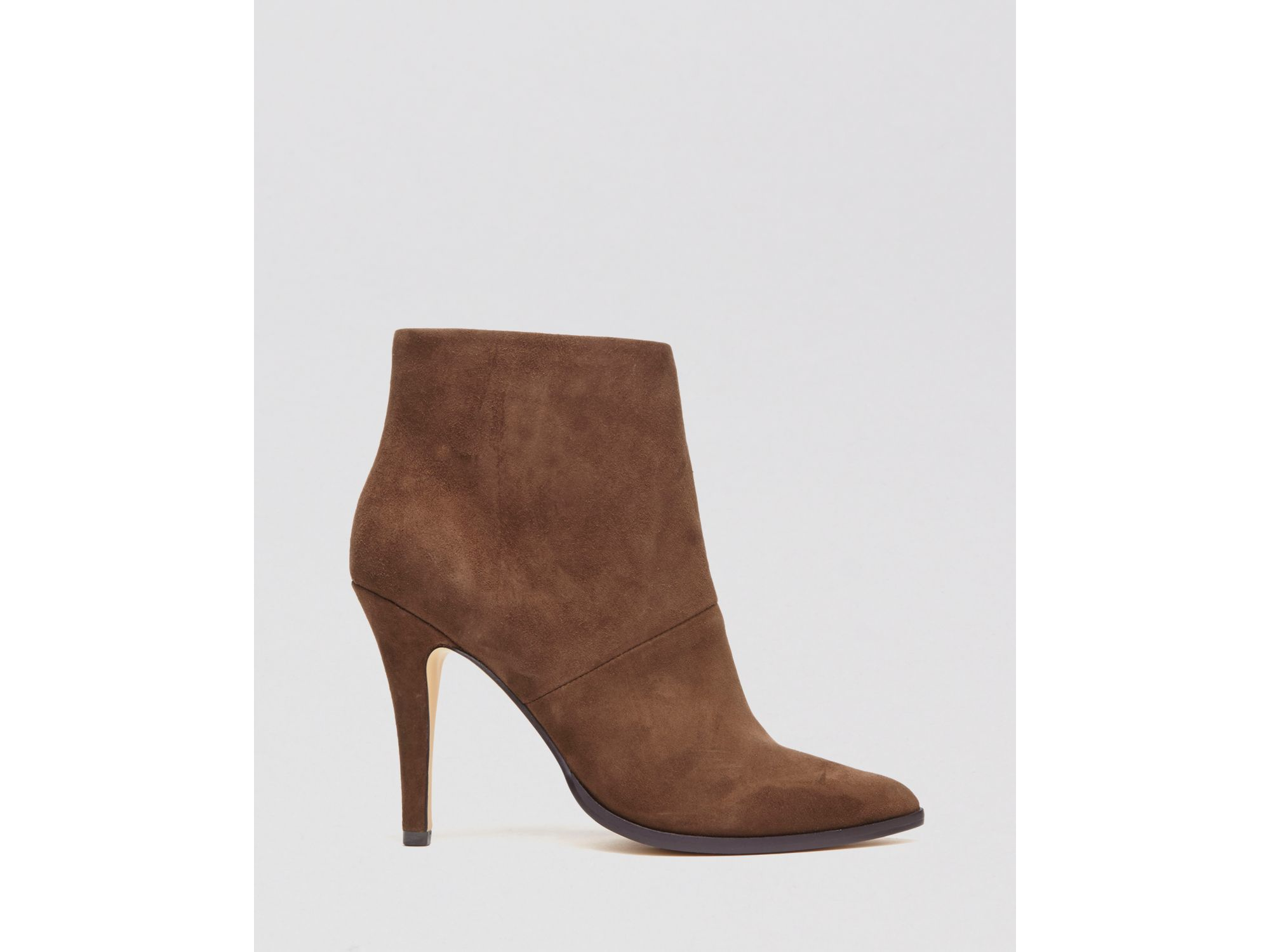 1dd74bab0 Lyst - DV by Dolce Vita Pointed Toe Booties - Katin High Heel in Brown