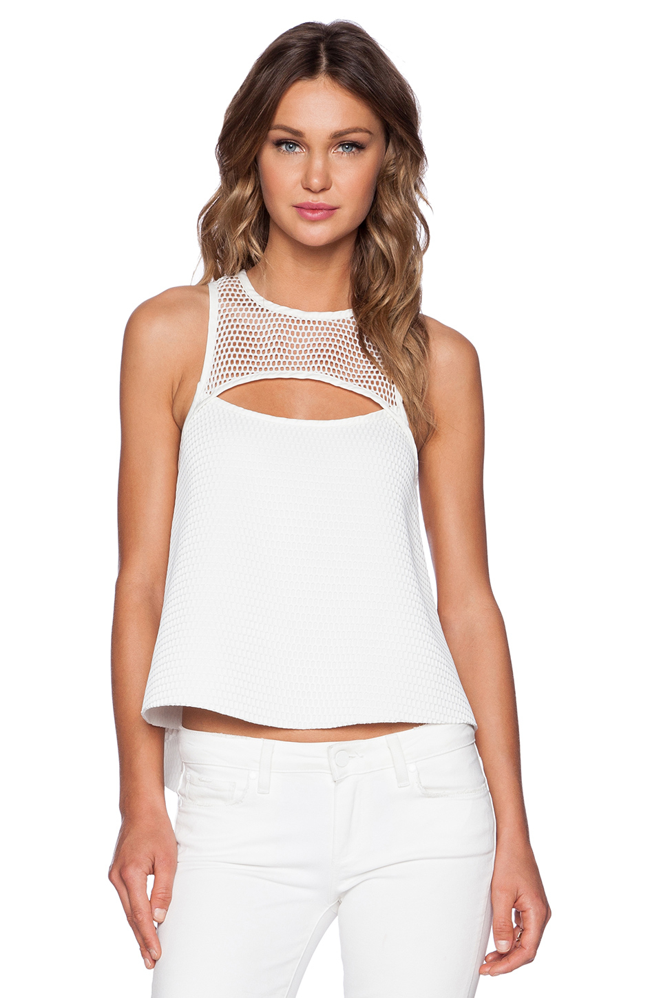 Shoulder Top In White Impressions Online