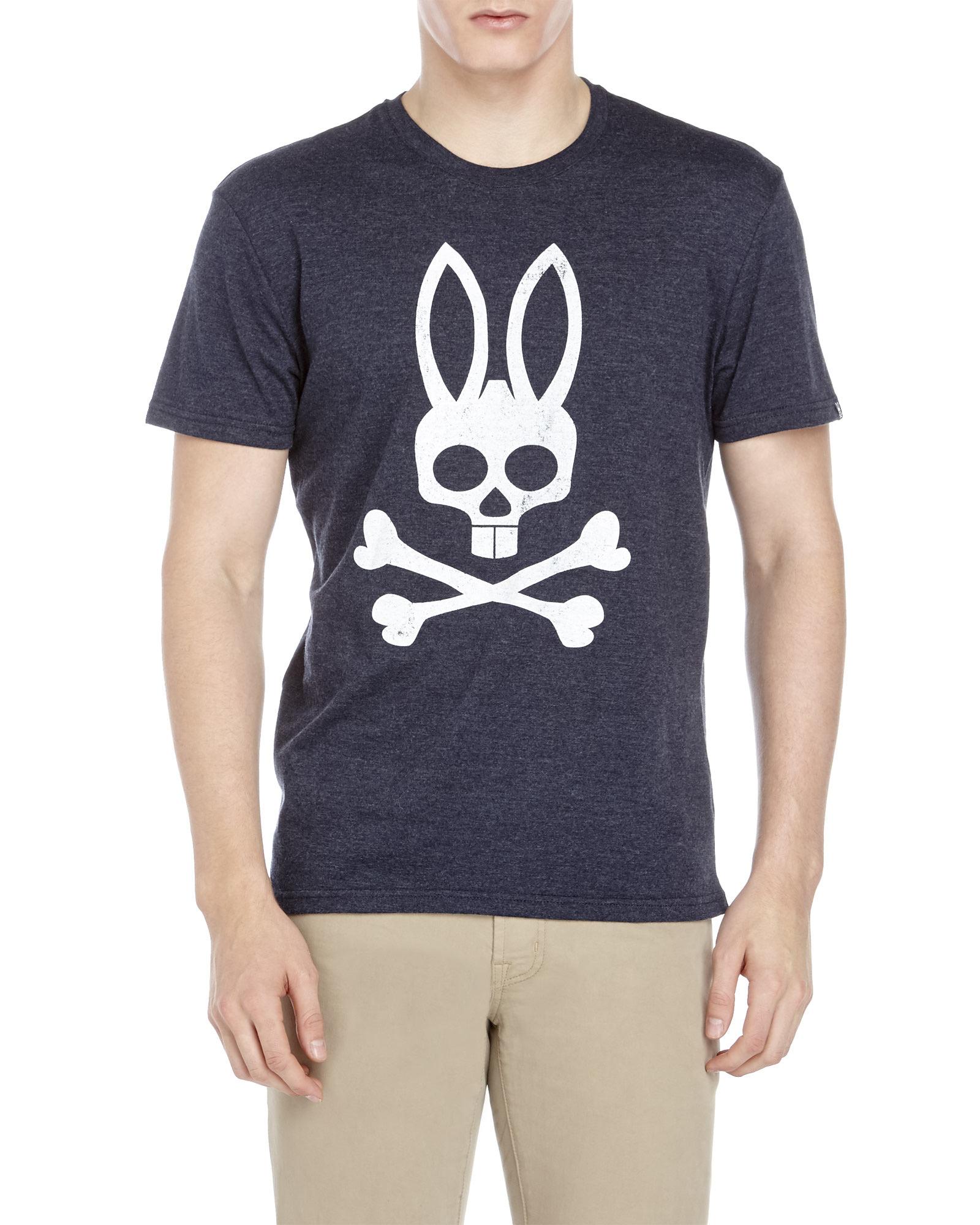 lyst psycho bunny logo bunny tee in blue for men. Black Bedroom Furniture Sets. Home Design Ideas
