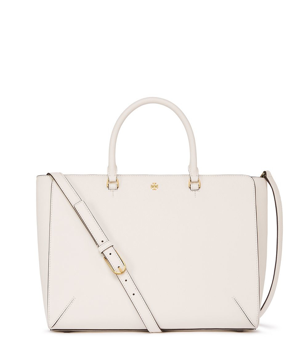 1162a92387fc Lyst - Tory Burch Robinson Large Zip Tote in Natural