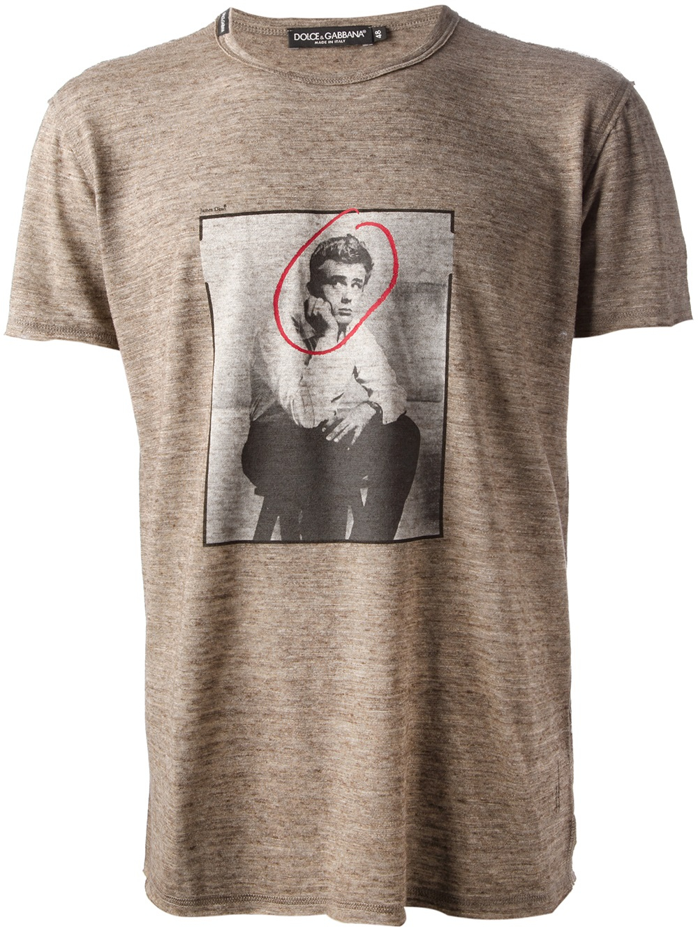 defb4aa24557d4 Dolce & Gabbana James Dean Tshirt in Brown for Men - Lyst