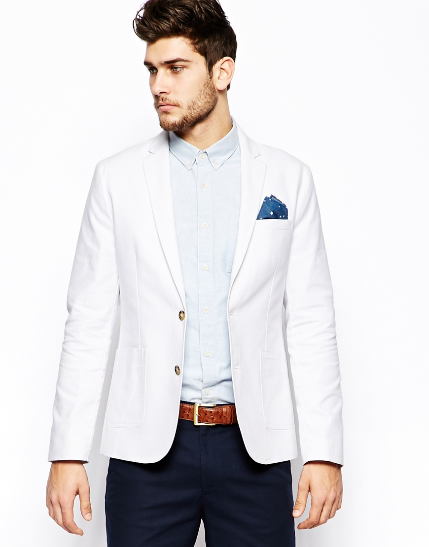 Discover our stylish range of men's blazers from ASOS. Shop from a variety of longline and classic styles and choose from soft velvet to a range of colors. Selected Homme slim fit double breasted blazer with fine grid check. $ Noak slim button up jacket. $ River Island skinny fit blazer in off white. $ Moss London.