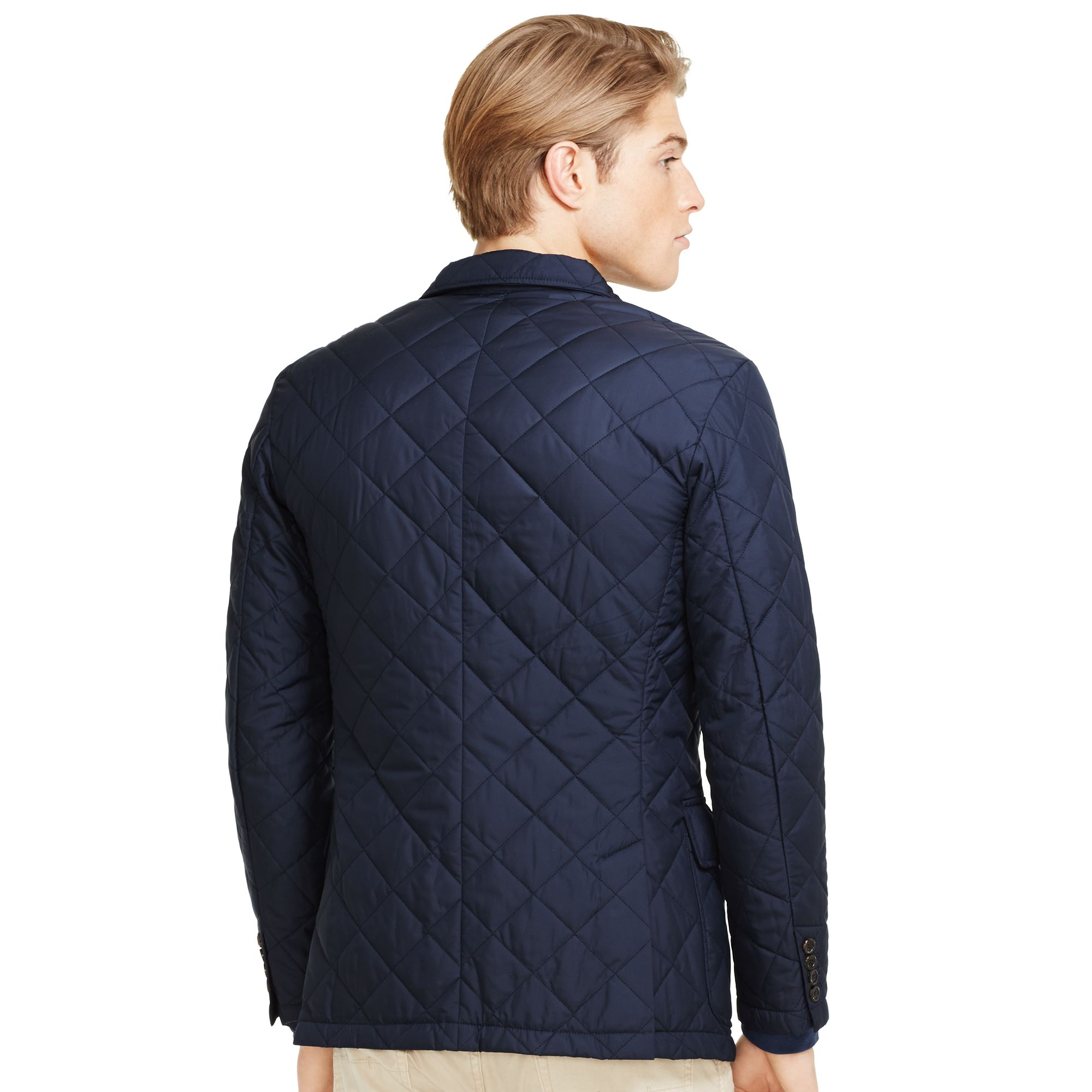 Marein polo ralph lauren quilted sports jacket aviator navy for Polo shirt with sport coat