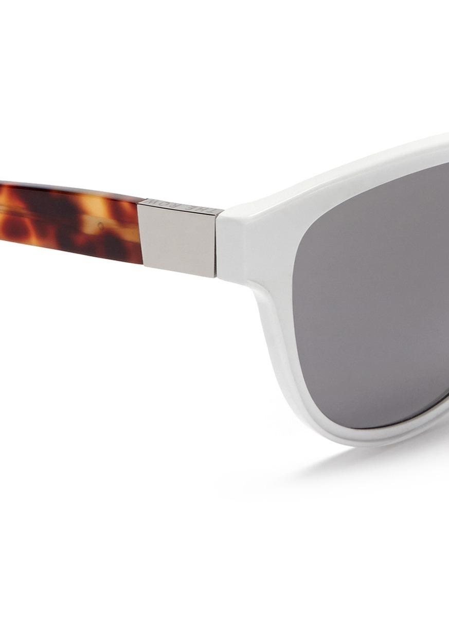9c6bf9d8ec0d The Row X Linda Farrow Leather Temple Cat Eye Sunglasses - Lyst