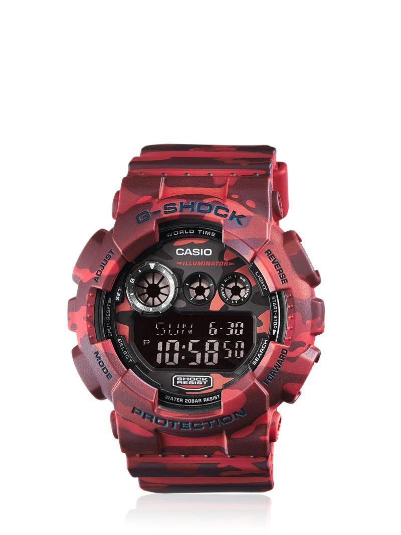 G-shock Absolute Red Camouflage Digital Watch in Red for ...