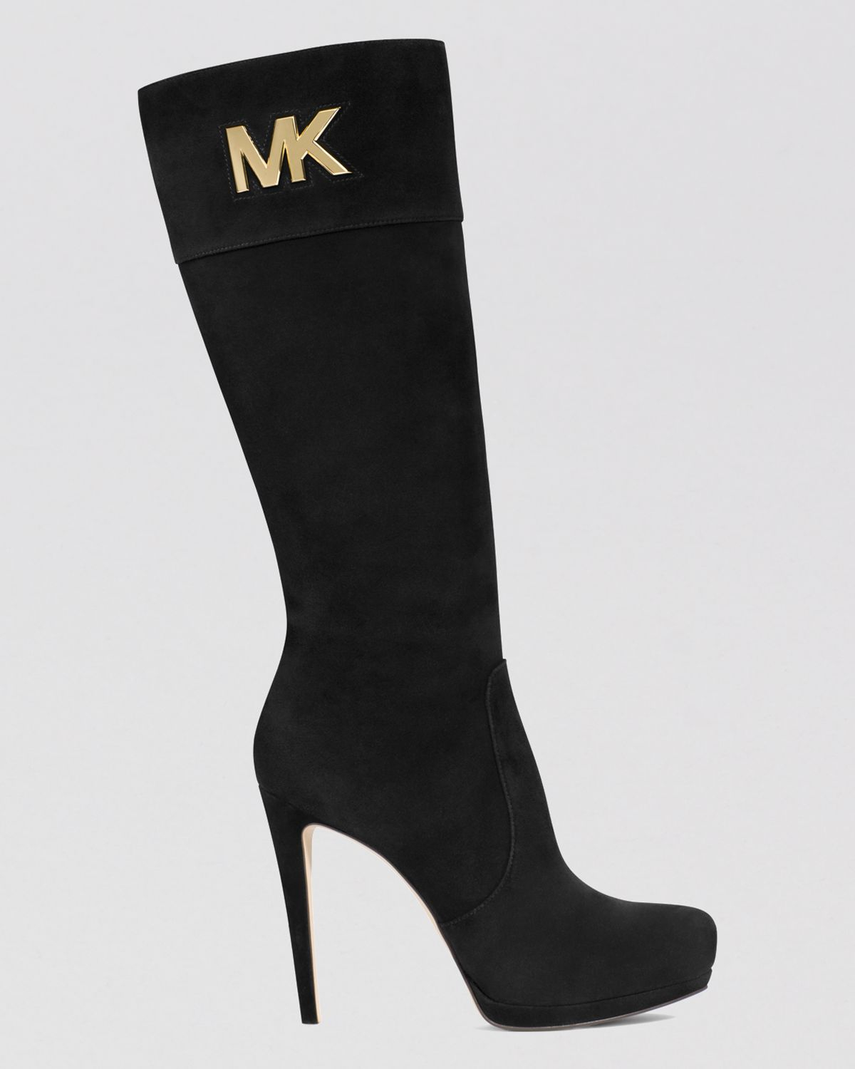 Michael michael kors Tall Dress Boots - Hayley Mk Logo Plate High ...