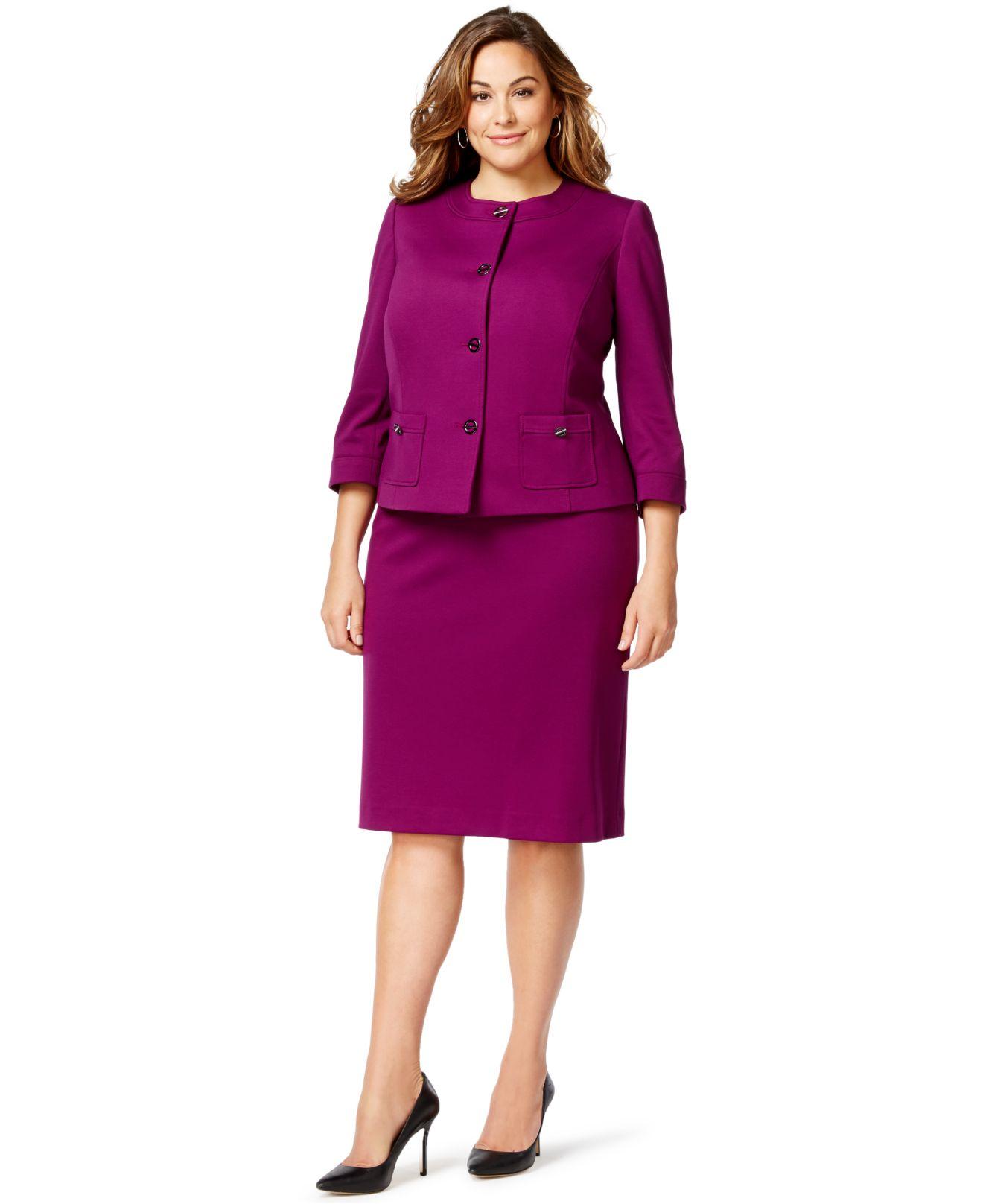 Plus Size Purple Suits for Women