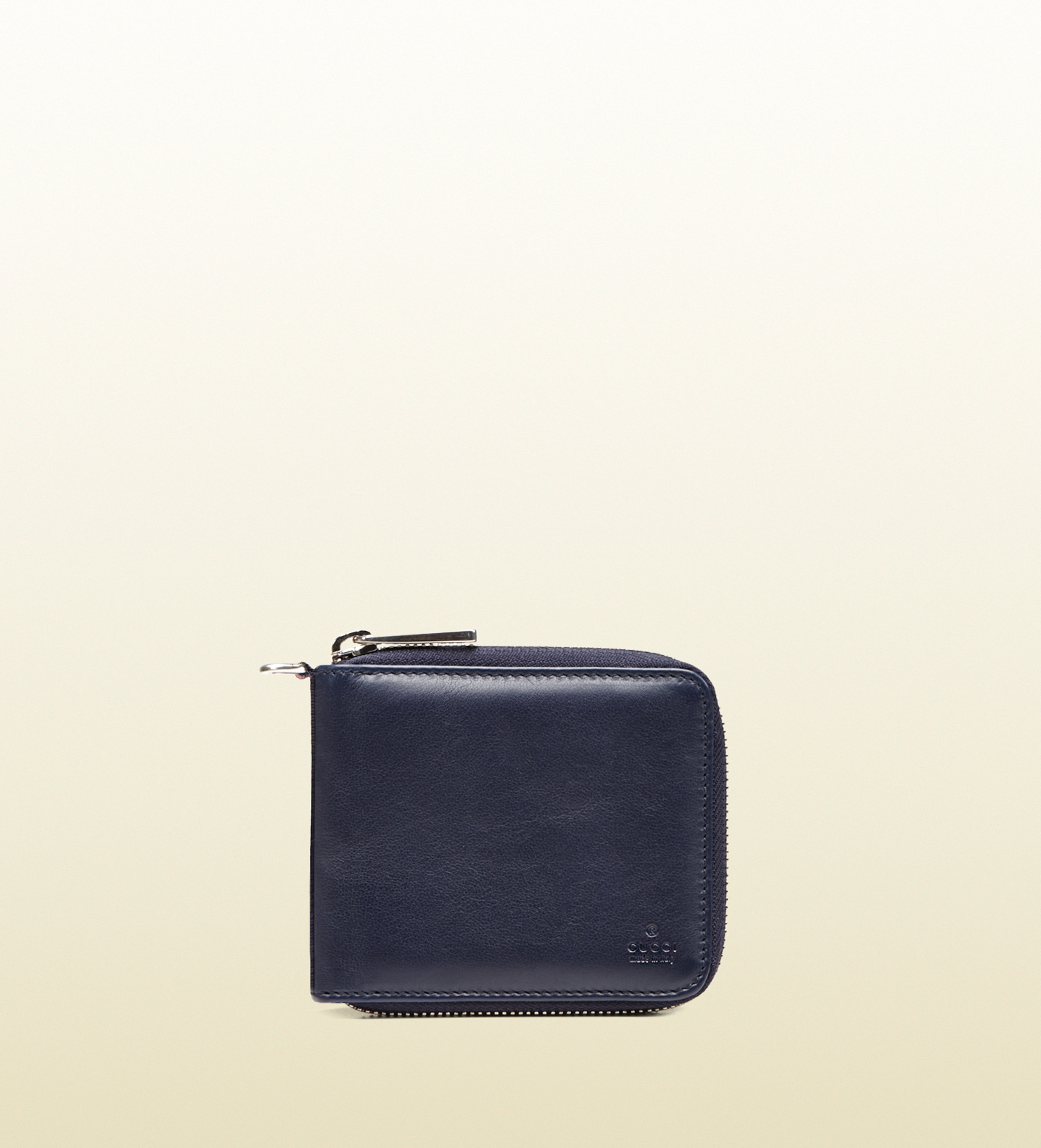 3021e447fce0 Gucci Leather Zip Around Wallet in Blue for Men - Lyst