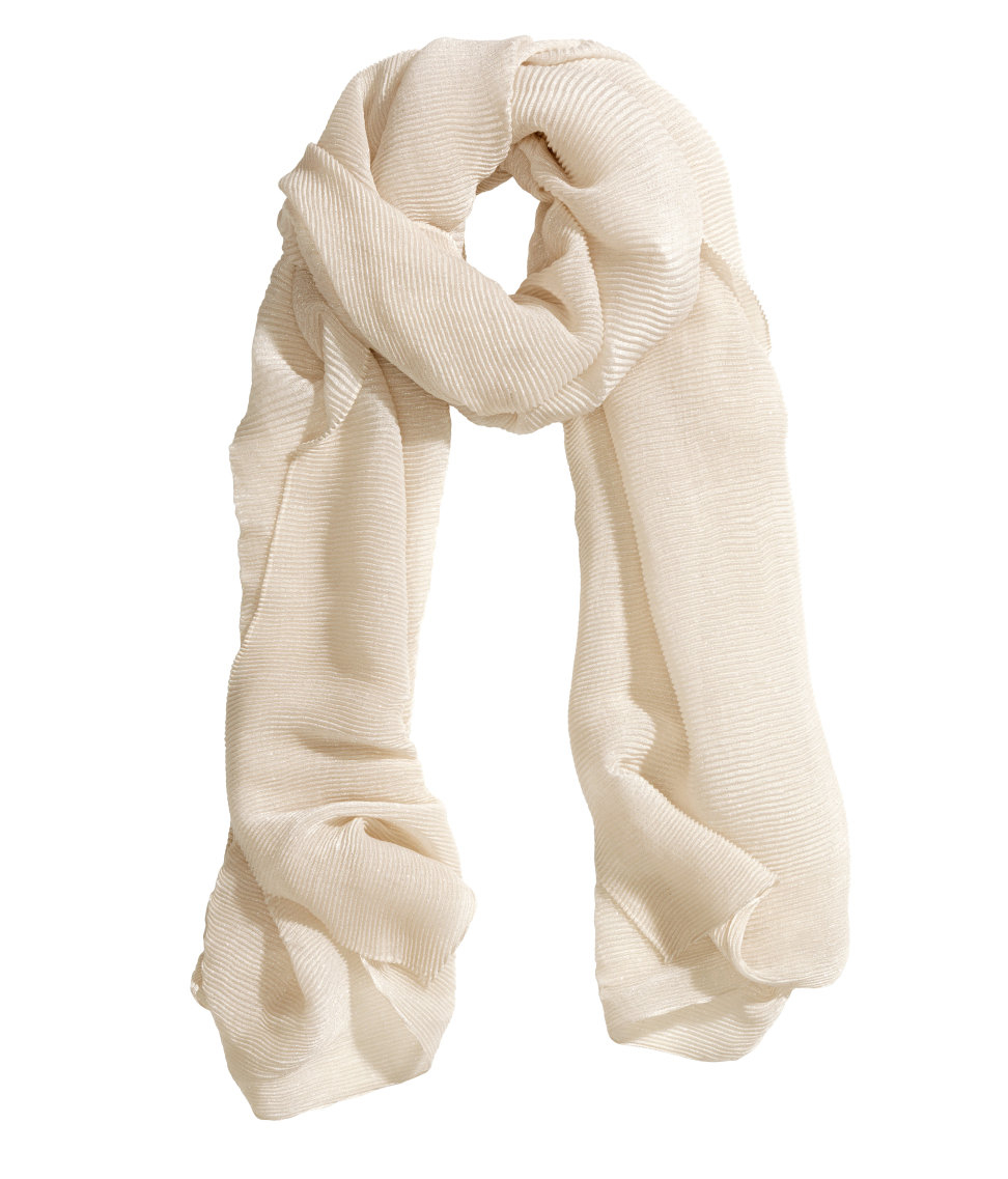 h m pleated scarf in lyst