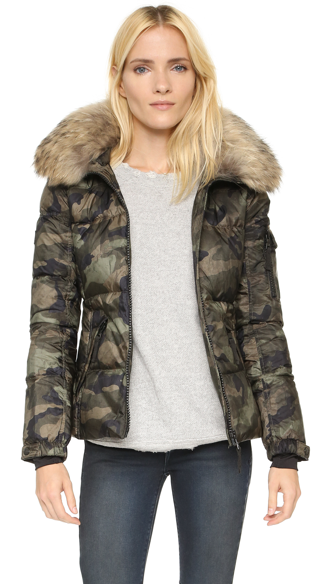 search for best limited sale hot-selling newest Camo Fur Freestyle Down Jacket