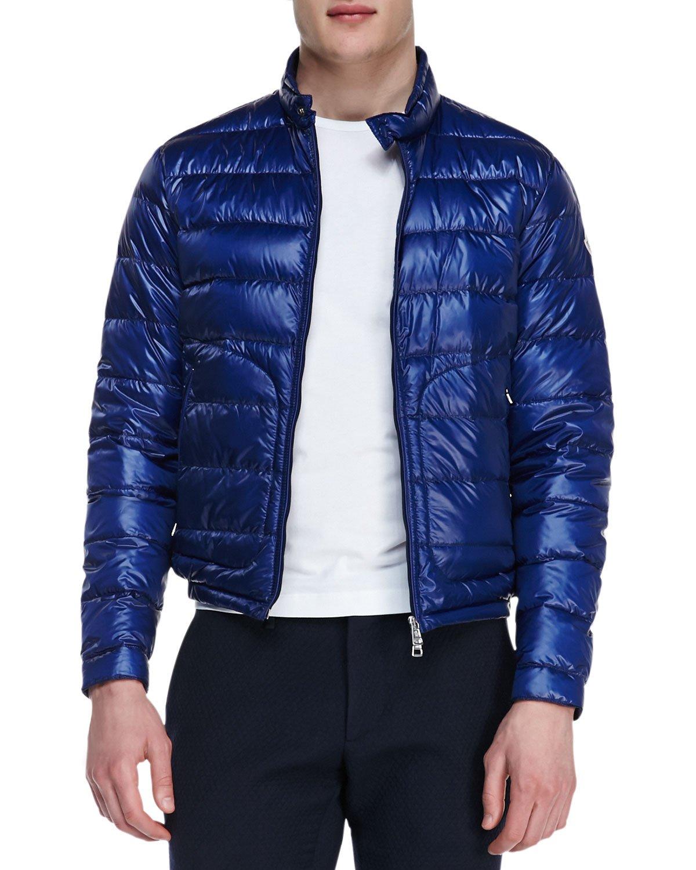 Lyst - Moncler Acorus Lightweight Puffer Jacket Blue in Blue for Men 5d5bc9ca7a2f