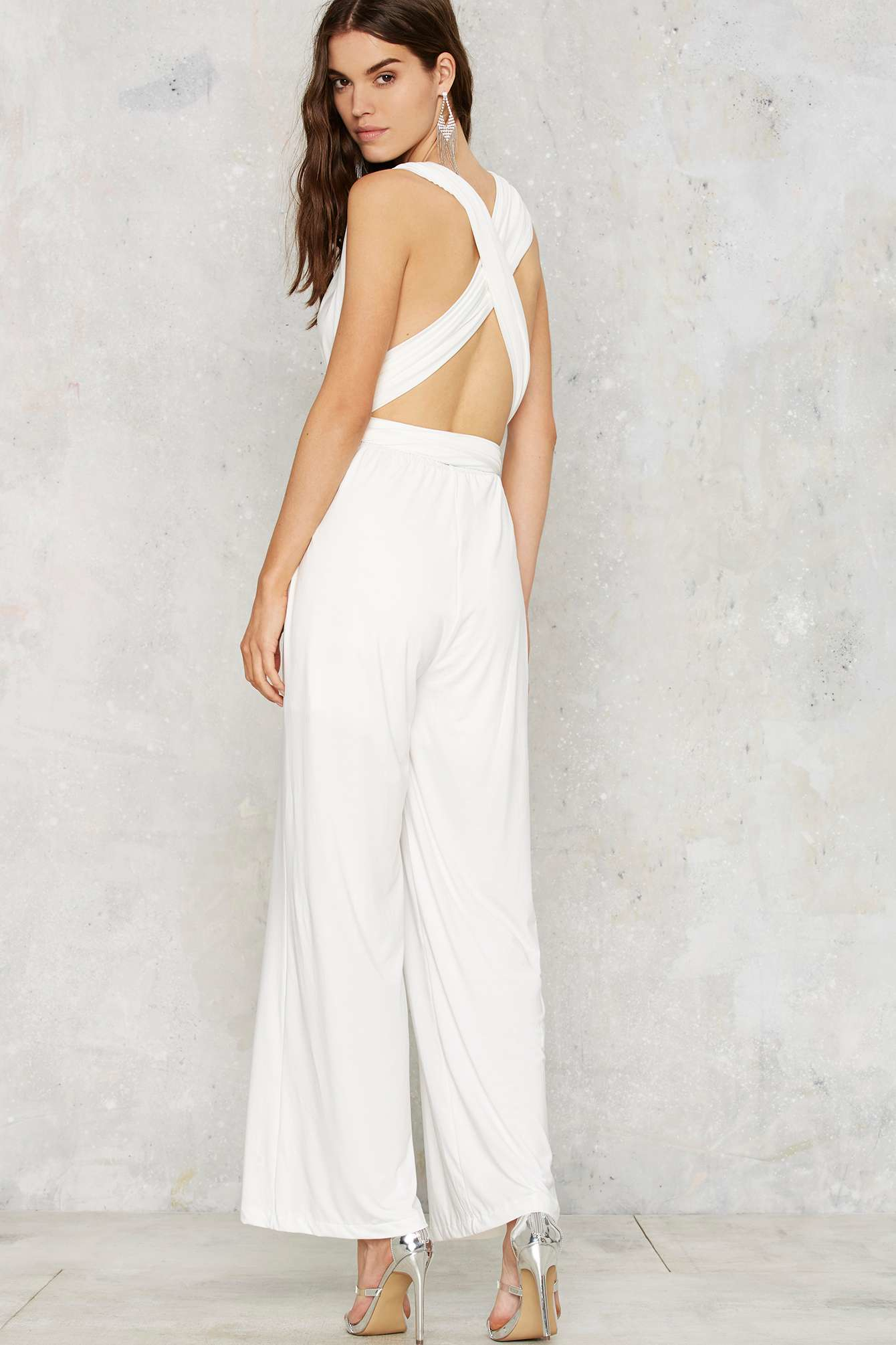 b4e7dcb5ced5 Lyst - Nasty Gal All Time Low Halter Jumpsuit - White in White