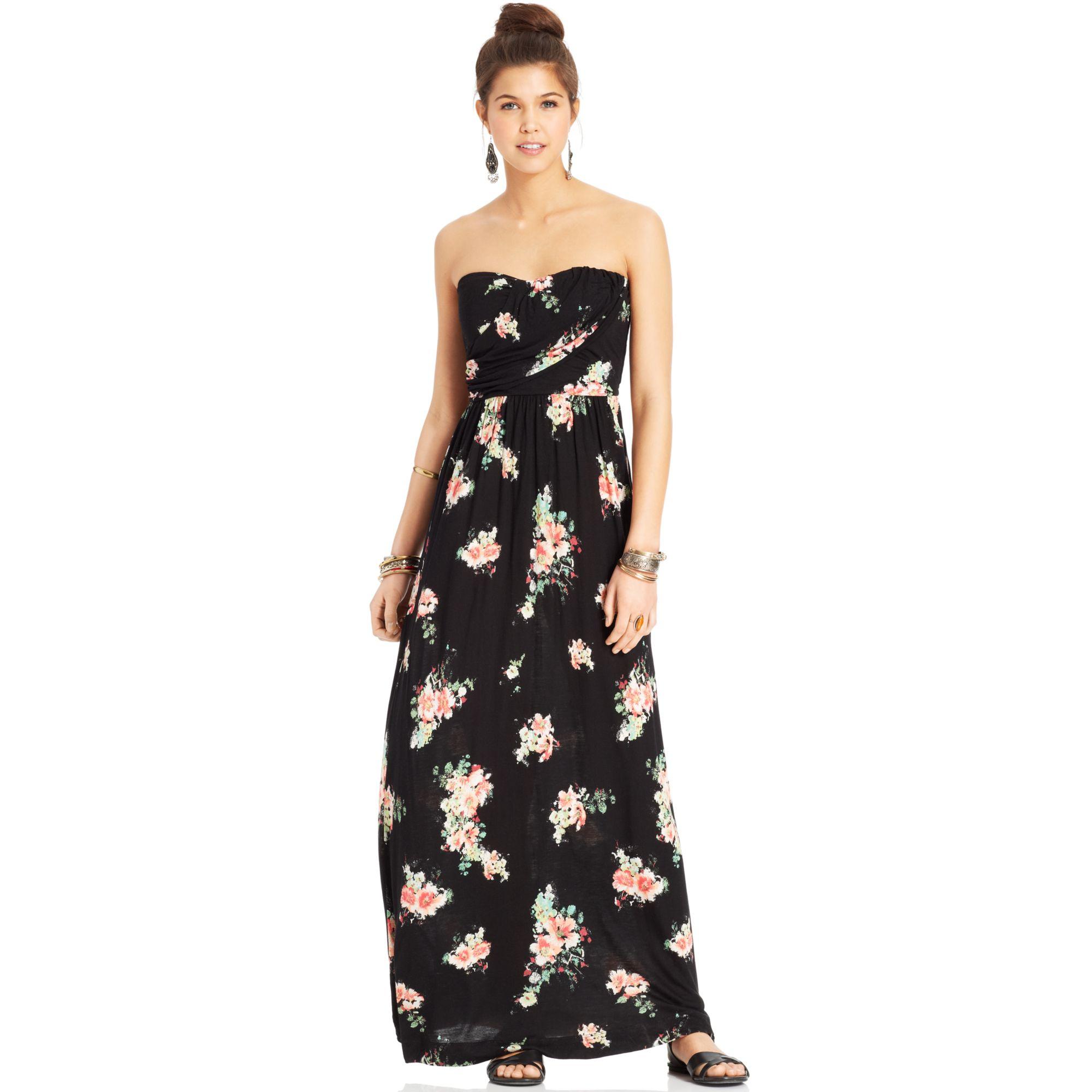 634d04360 American Rag Strapless Floralprint Maxi Dress - Lyst