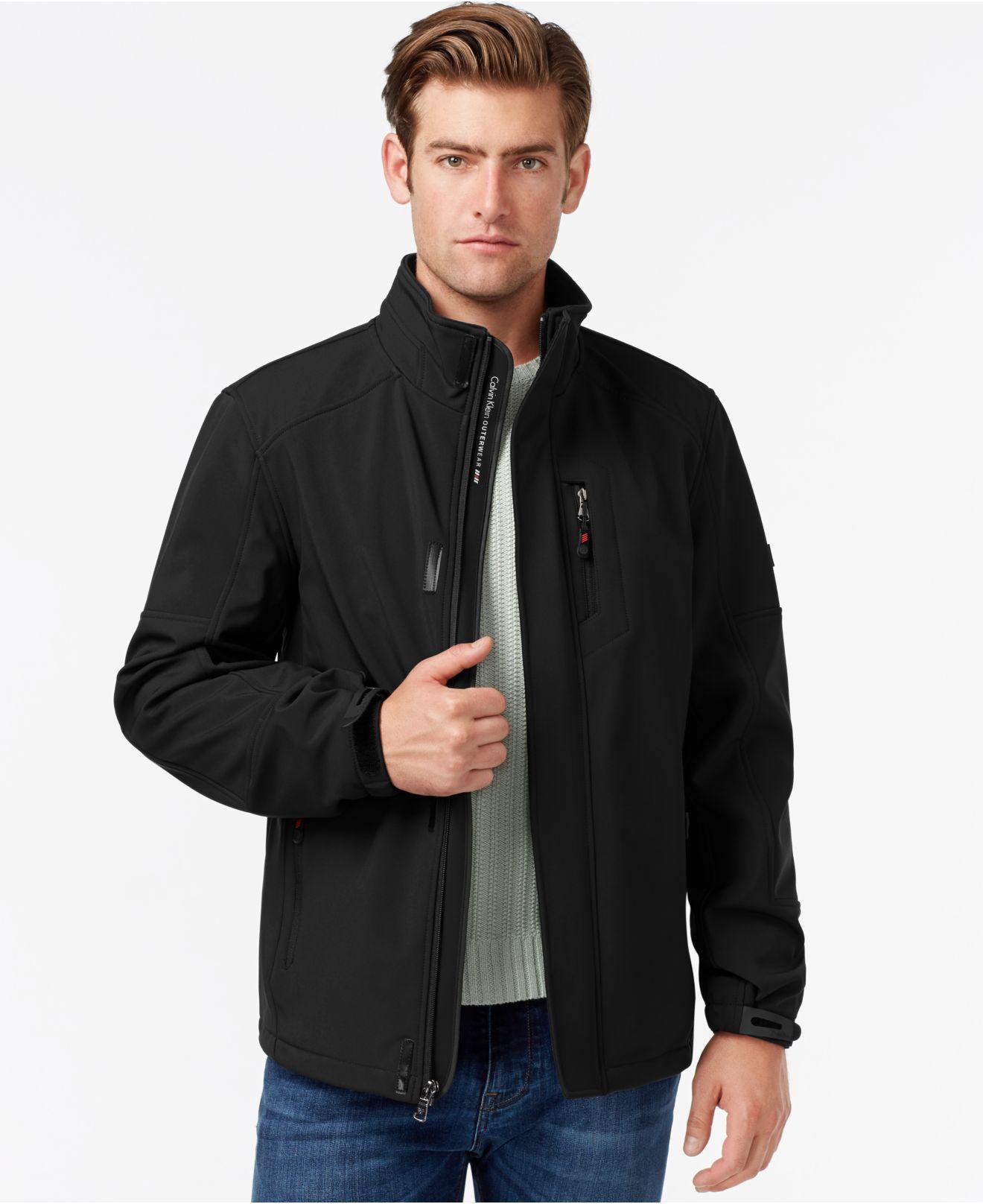 Lyst Calvin Klein Men S Soft Shell Jacket In Black For Men